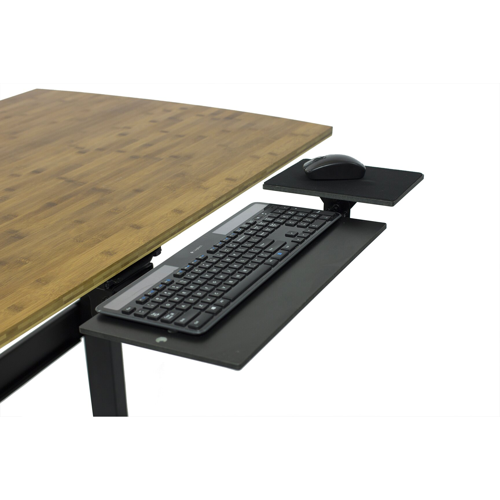 uncaged ergonomics under desk computer keyboard tray reviews wayfair. Black Bedroom Furniture Sets. Home Design Ideas