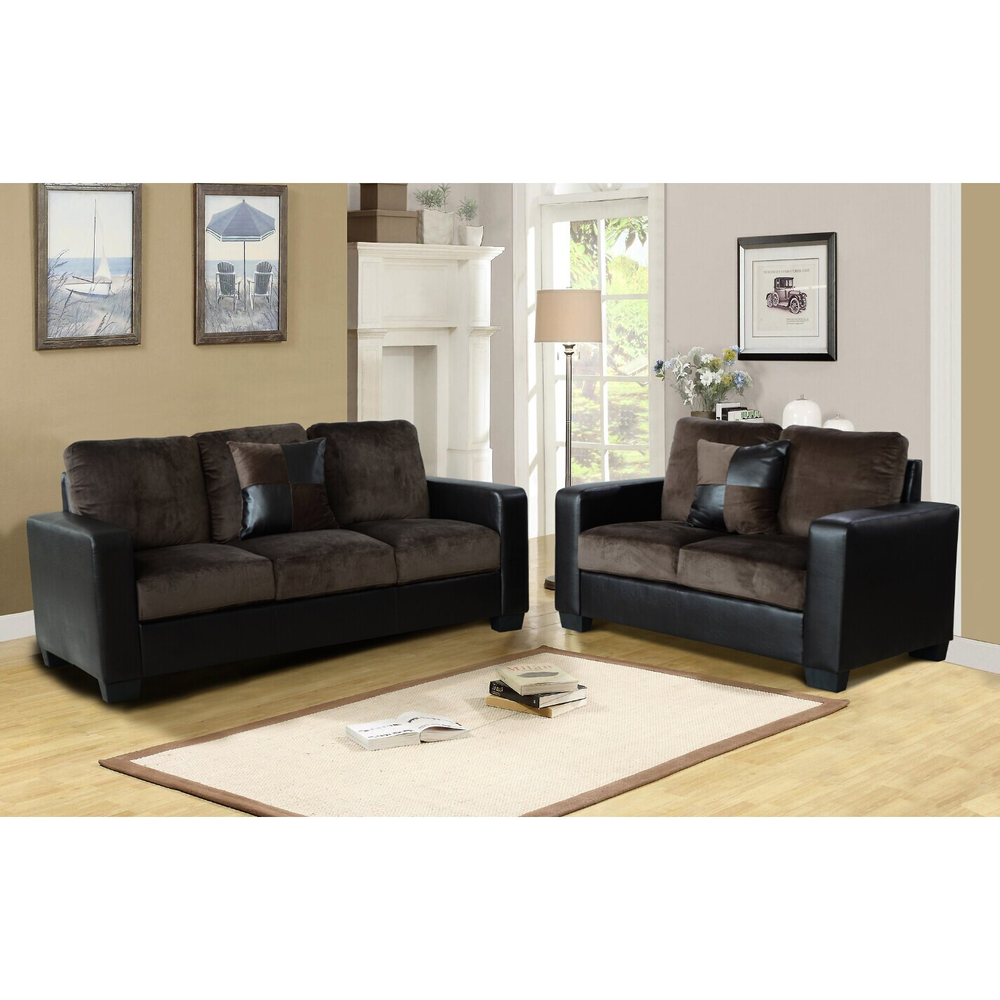 Beverly Fine Furniture Della 2 Piece Living Room Set Reviews