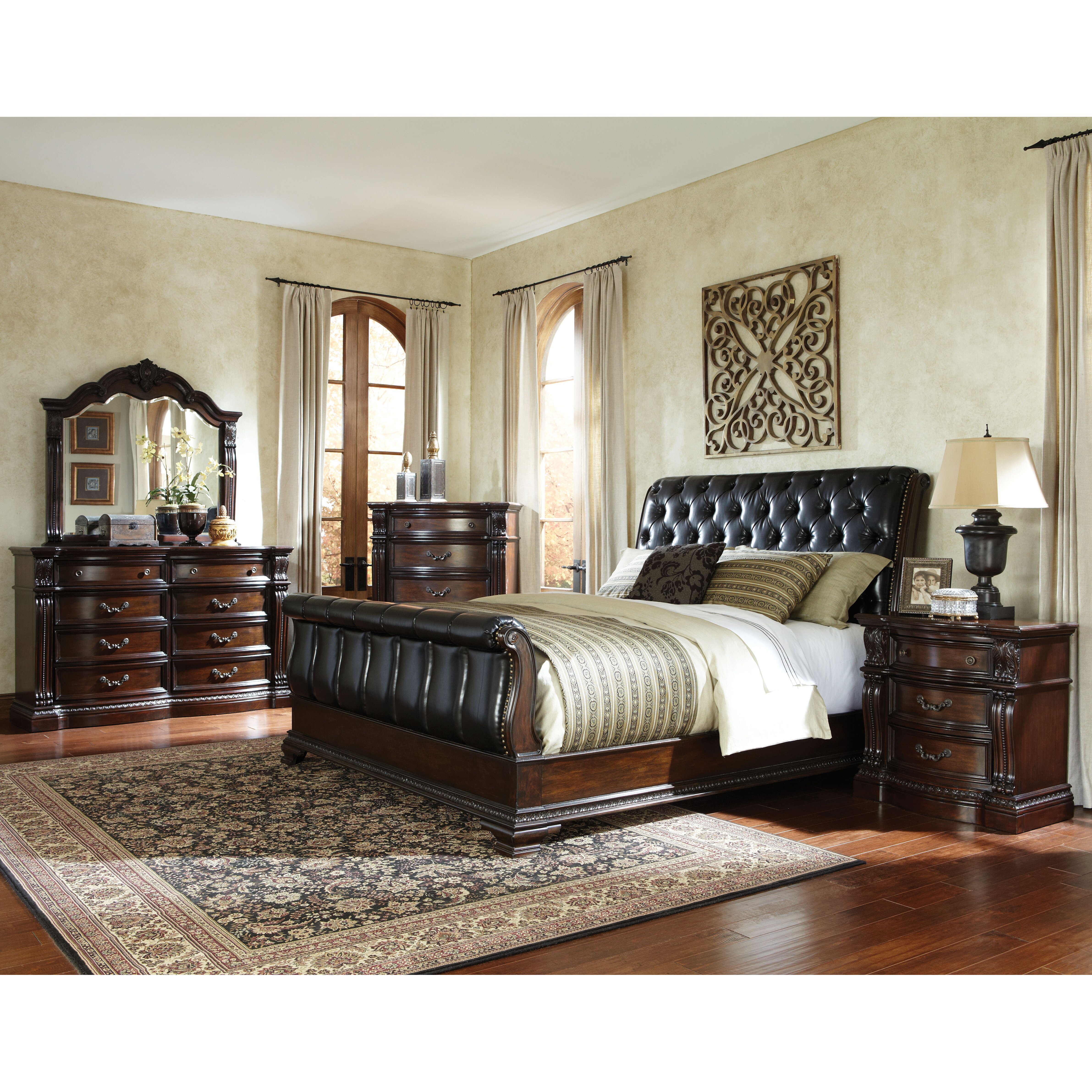 Standard Furniture Churchill Upholstered Sleigh Bed