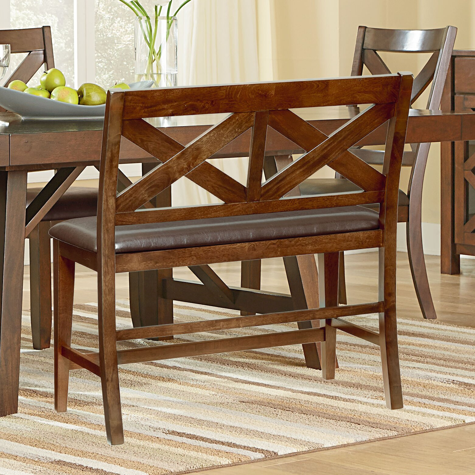 Standard Furniture Omaha Wood Kitchen Bench & Reviews