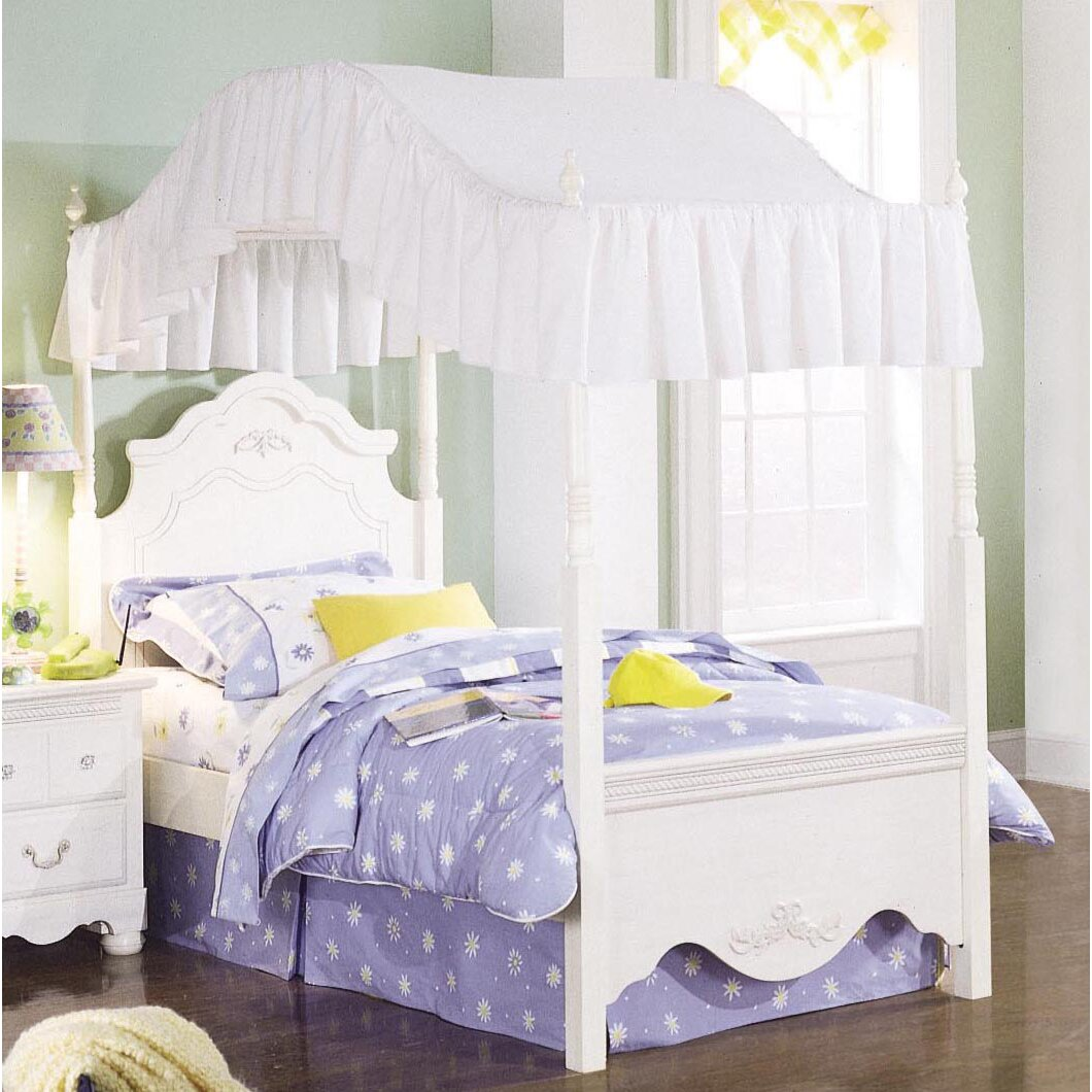 Standard furniture diana canopy customizable bedroom set for Rectangle bed canopy