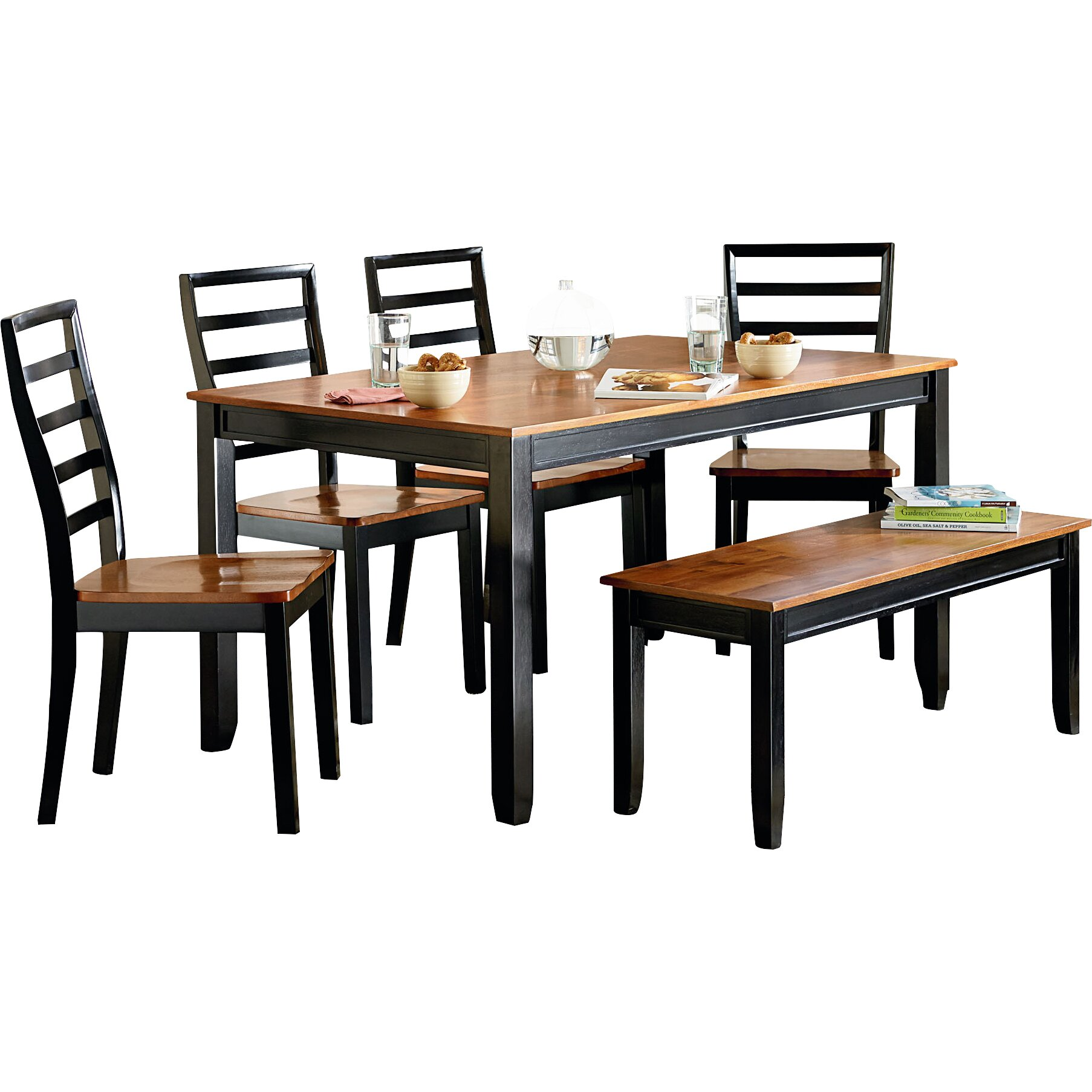 Standard furniture lexford 5 piece dining set reviews for Kitchen dining furniture