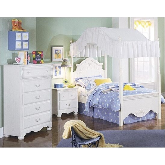 Standard furniture diana canopy customizable bedroom set for Diana bedroom set