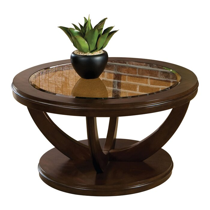 Standard furniture la jolla coffee table reviews wayfair for Wayfair round glass coffee table