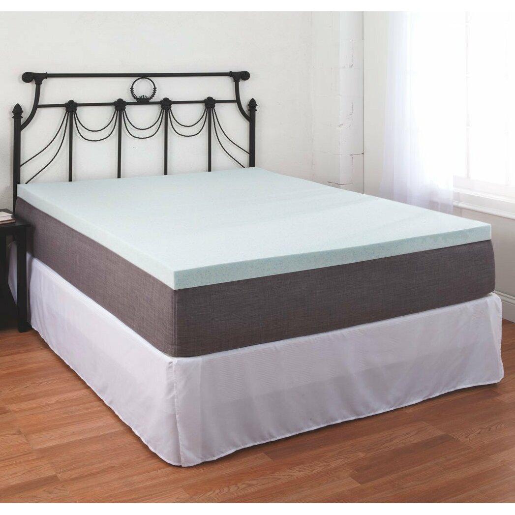 eluxury supply gel memory foam mattress topper wayfair. Black Bedroom Furniture Sets. Home Design Ideas