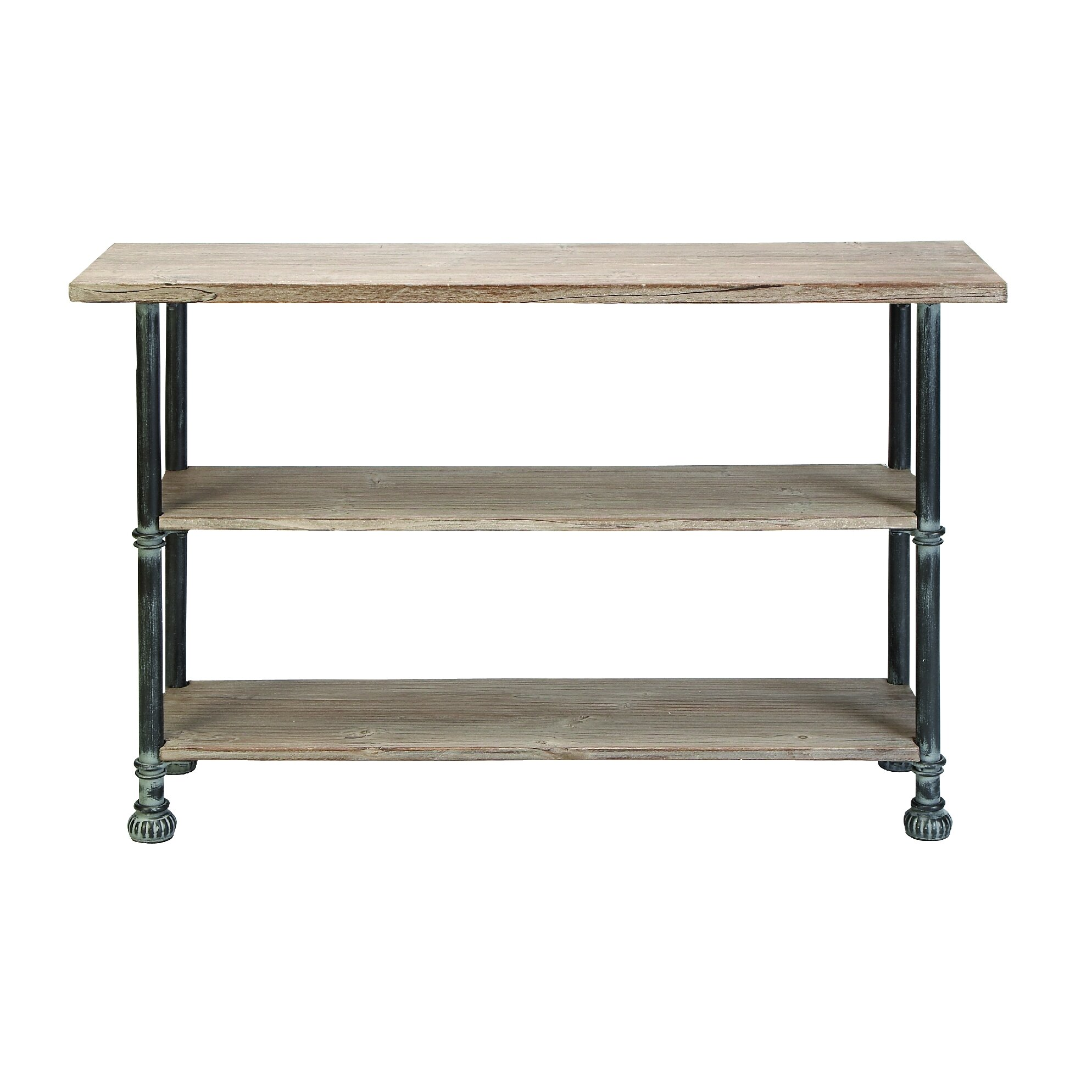 Cole grey console table reviews wayfair for Sofa table grey