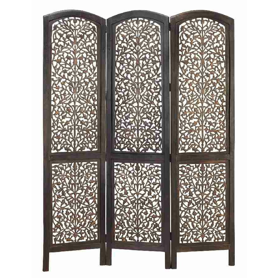 cole amp grey 74 x 54 rustic screen 3 panel room divider