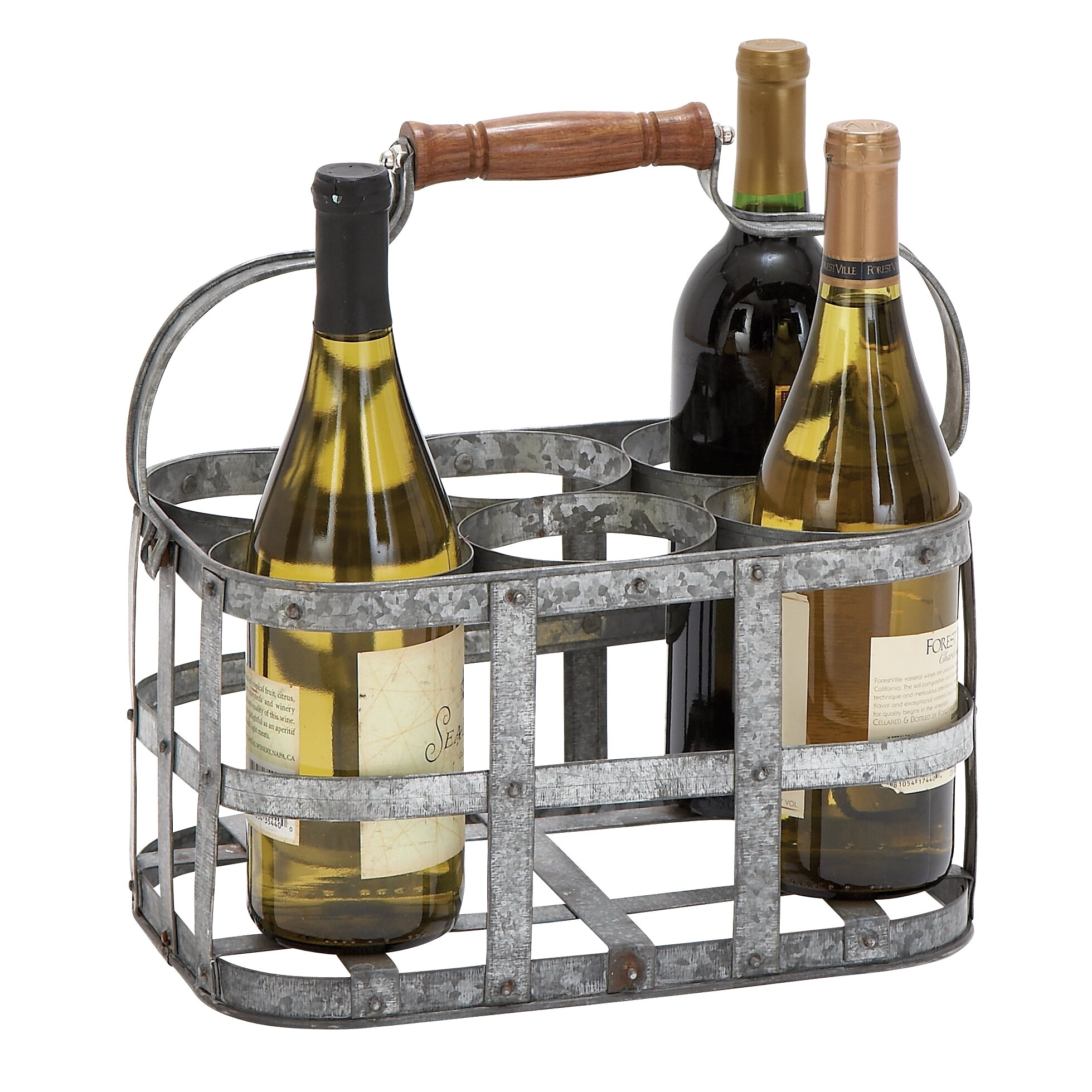 Cole grey 6 bottle tabletop wine rack reviews wayfair for Kitchen 1883 reviews