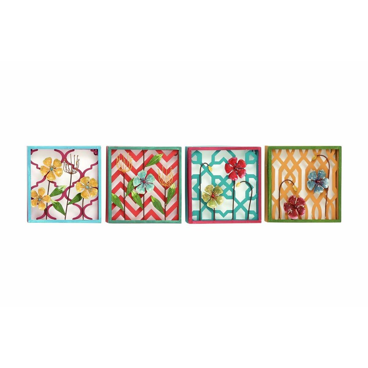 4 Piece Giolla Wall Decor Set : Cole grey piece metal wall d?cor set wayfair