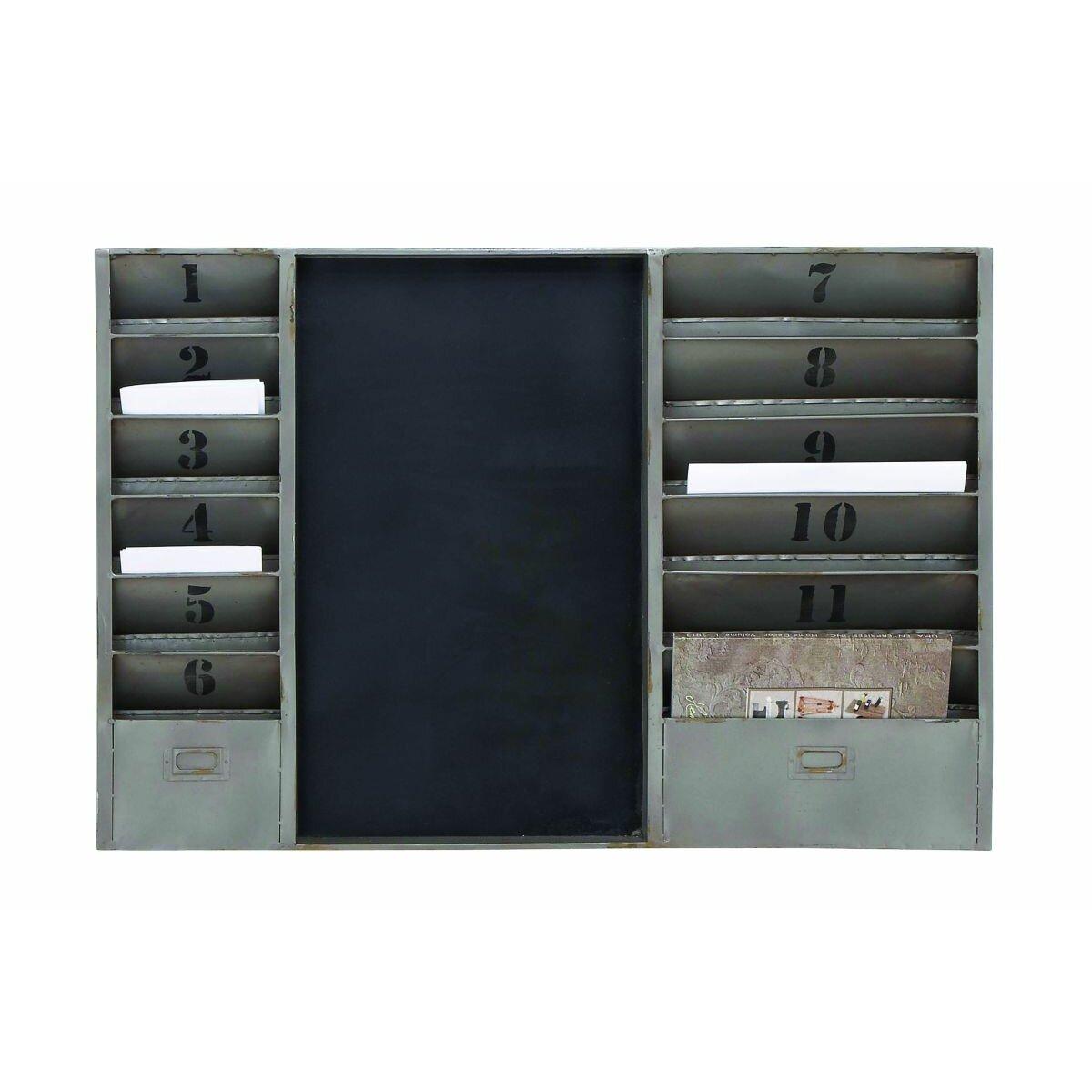 mercury row industrial mail sorter chalkboard reviews. Black Bedroom Furniture Sets. Home Design Ideas