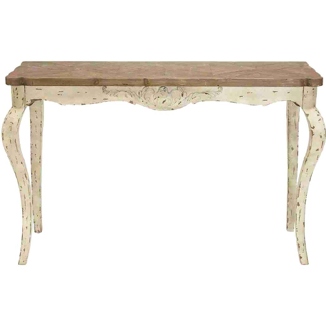 Cole grey loft wood console table reviews wayfair for Sofa table grey