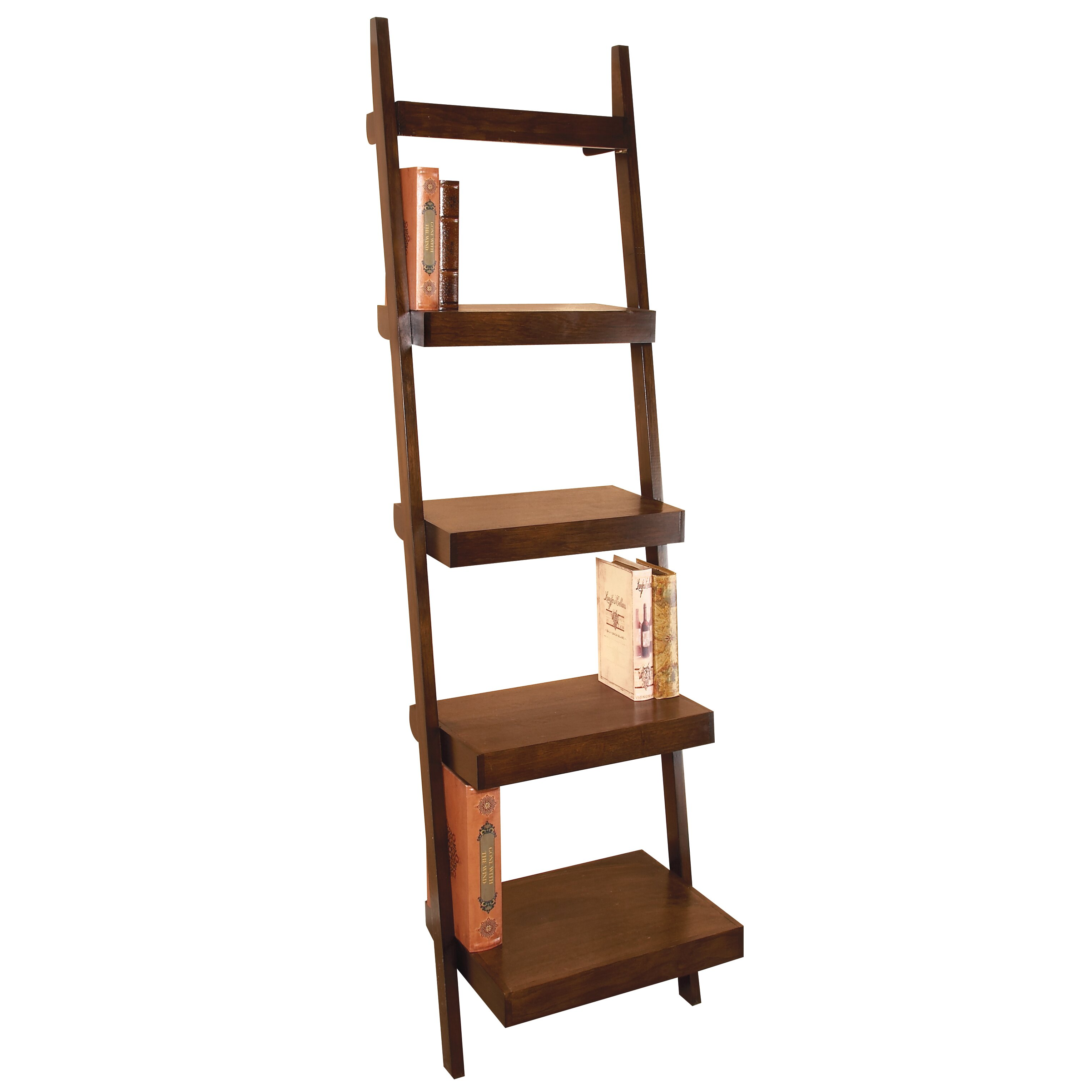 Cole Grey 69 Leaning Bookcase Reviews Wayfair