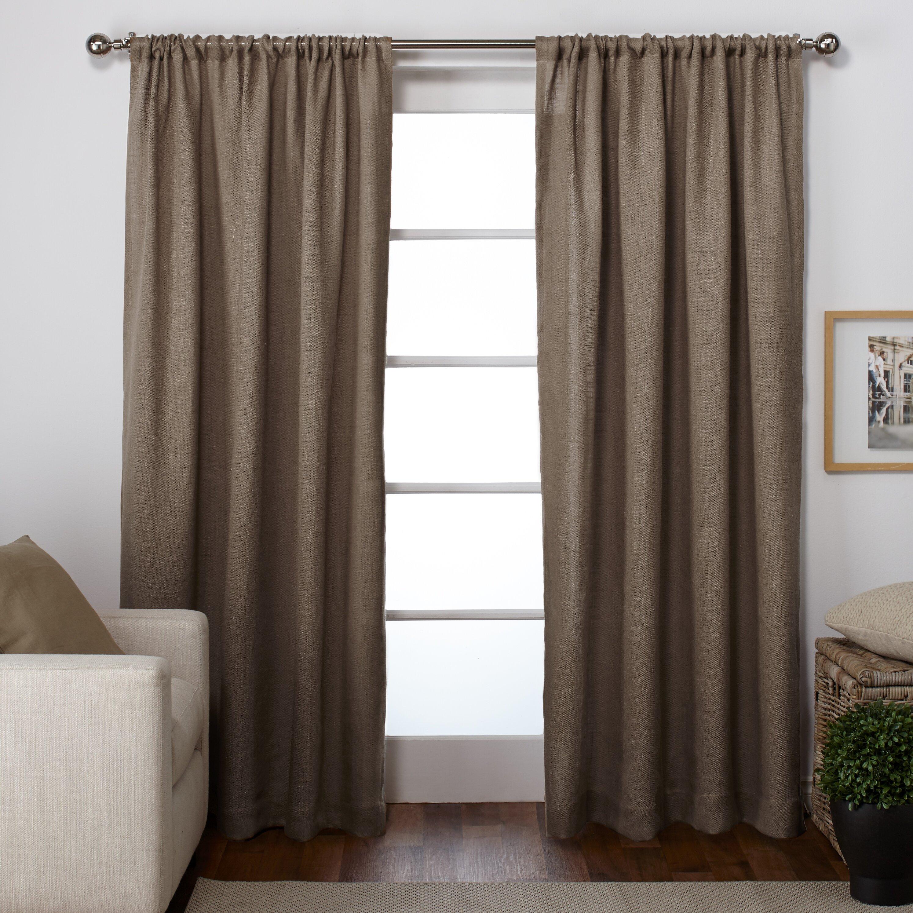 Amalgamated textiles burlap curtain panel reviews wayfair for Burlap christmas curtains