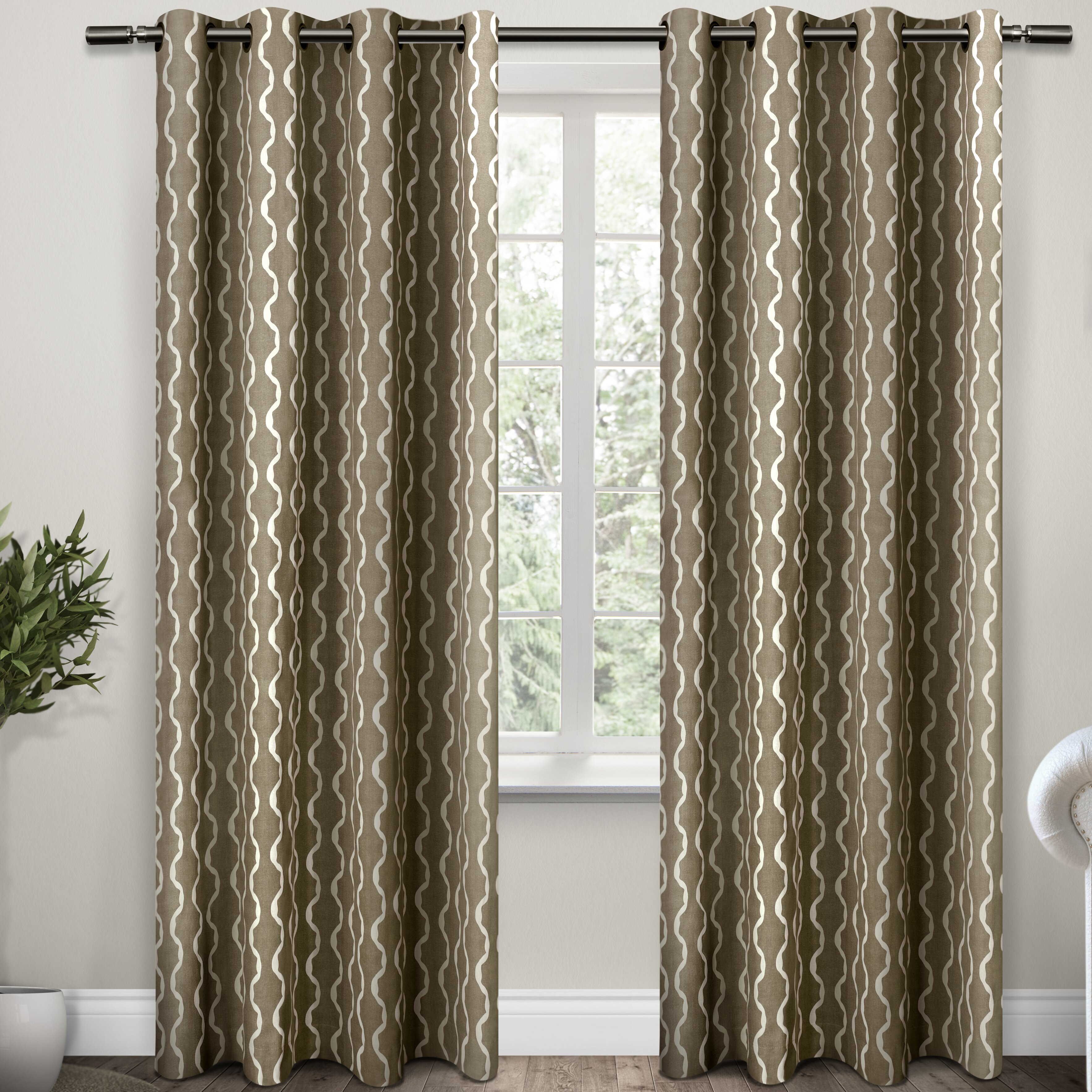 amalgamated textiles trellis curtain panel reviews wayfair