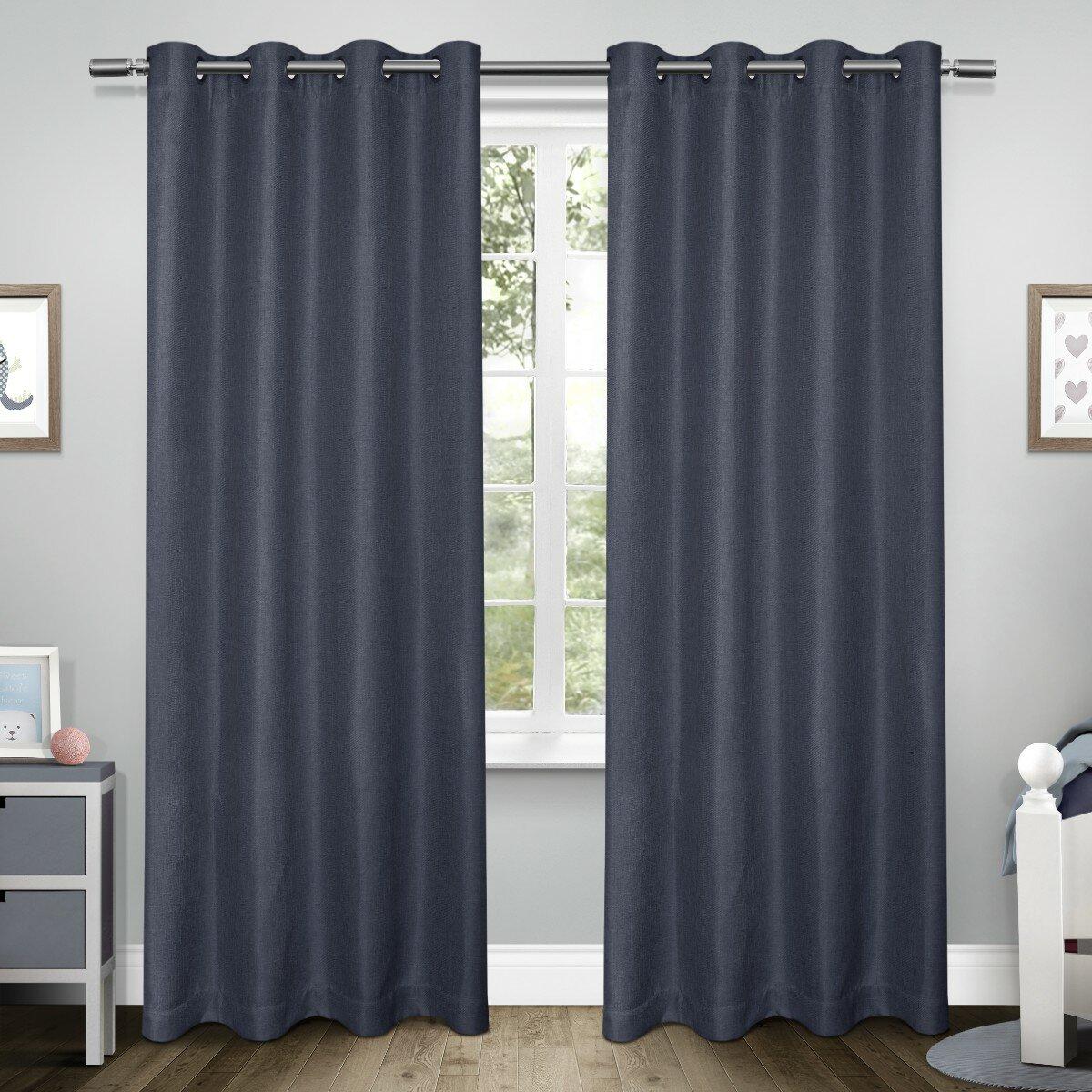 Amalgamated Textiles Exclusive Home Tweed Kids Textured Linen Woven Blackout Grommet Top