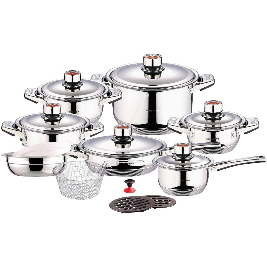 Concord Swiss Inox 18 Piece Stainless Steel Cookware Set