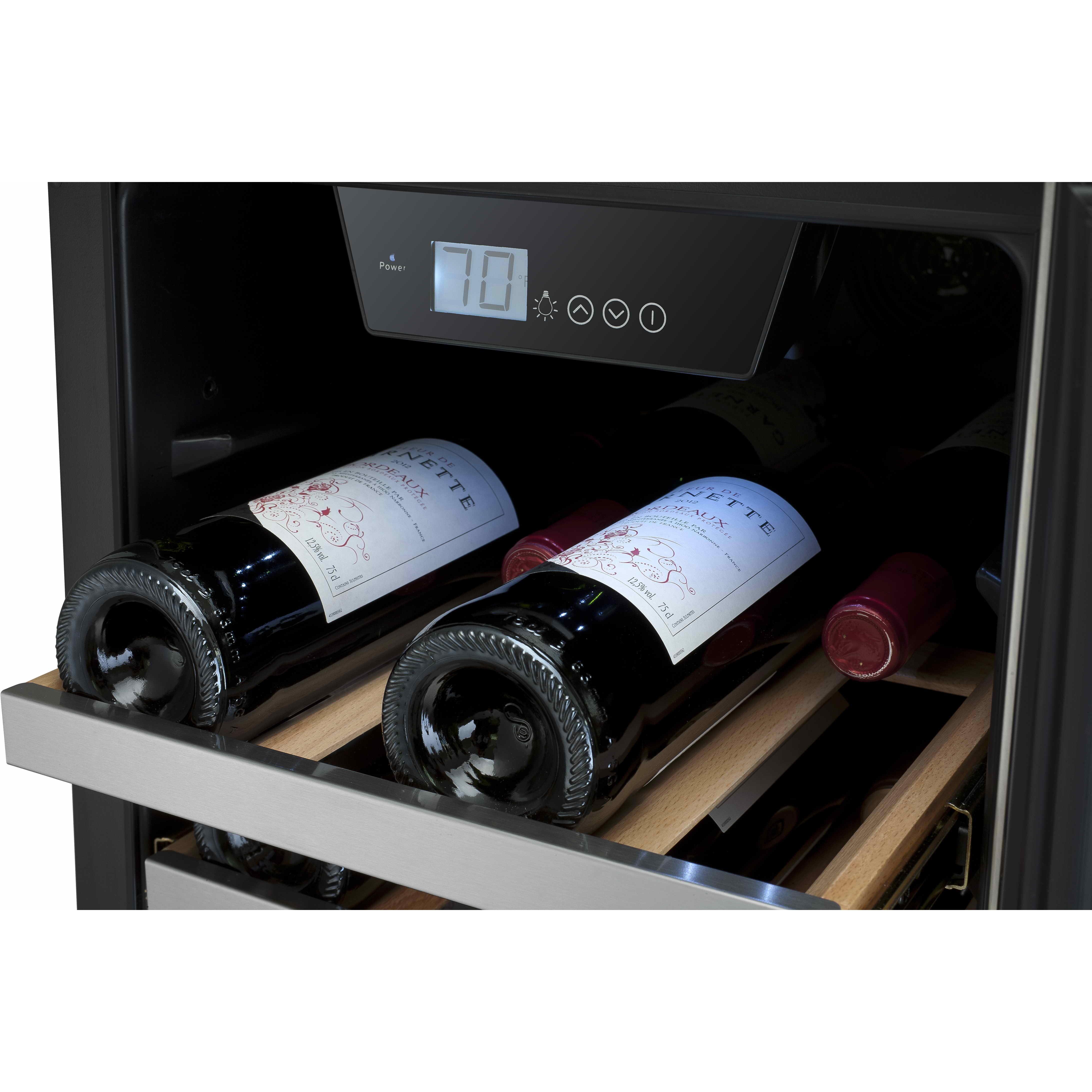 titan products llc 25 bottle single zone built in wine