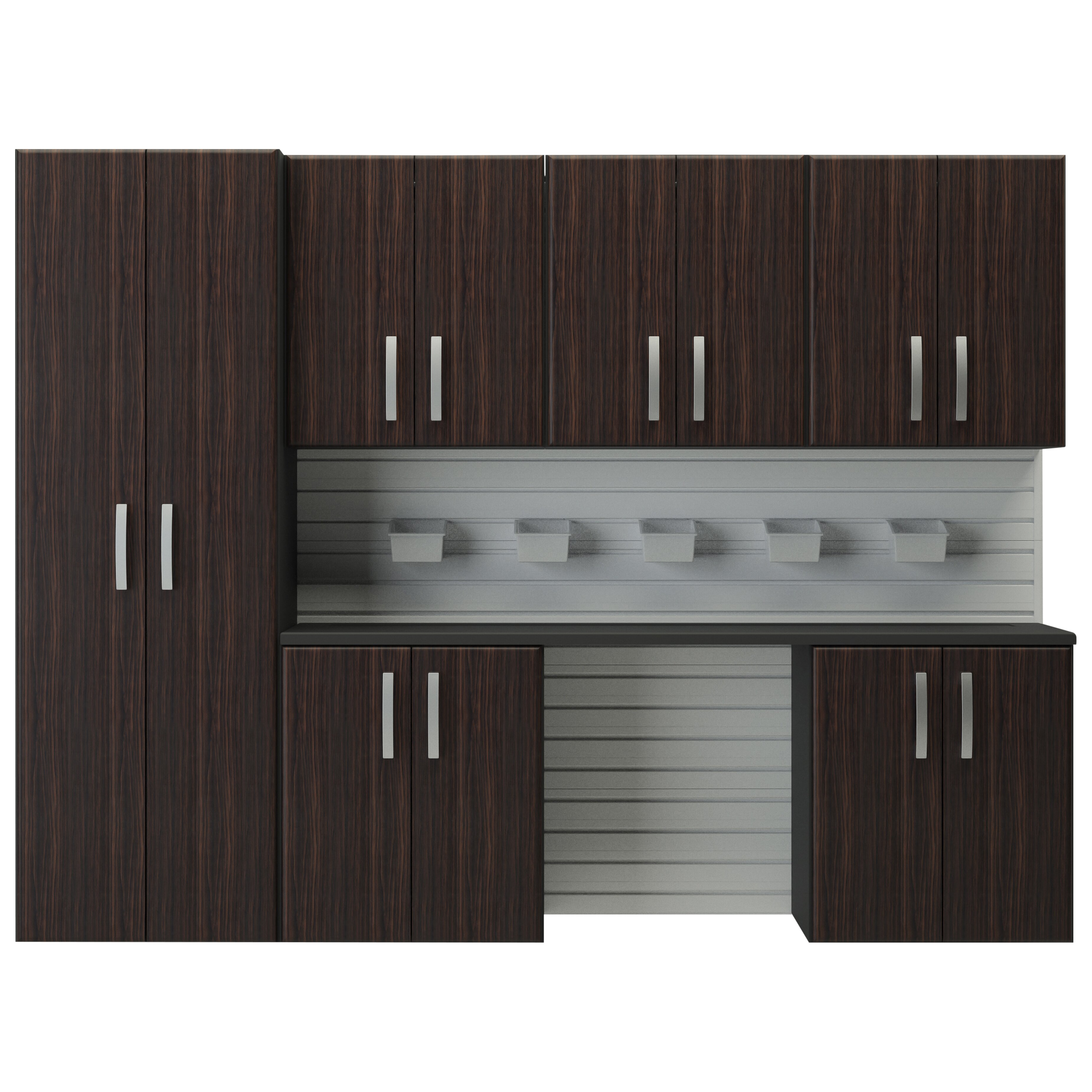 Full Kitchen Cabinet Set: Flow Wall 6' H X 8'W 7 Piece Cabinet Set & Reviews