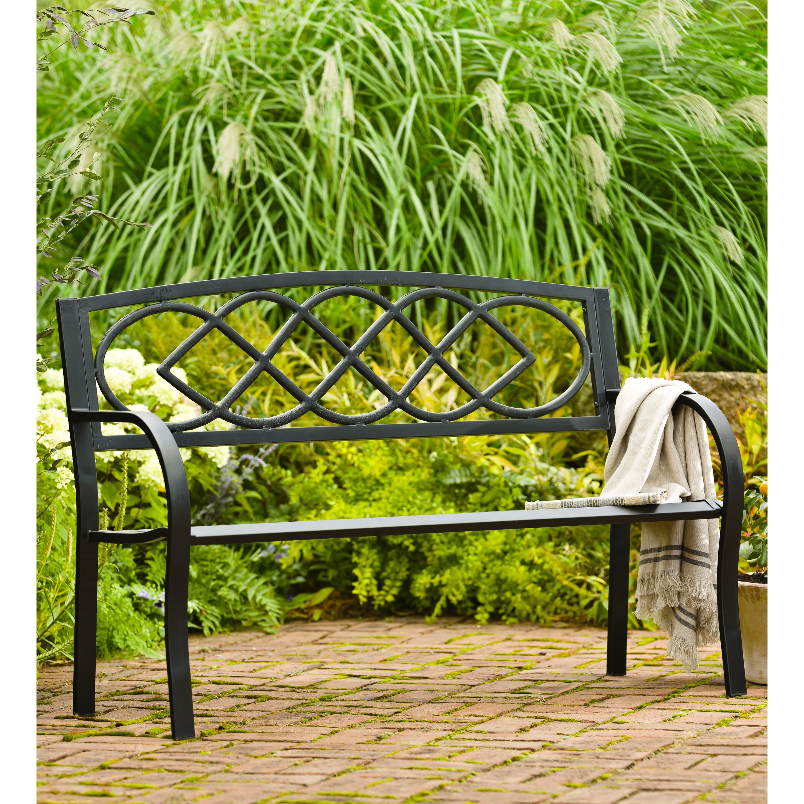 Plow Amp Hearth Celtic Knot Iron Garden Bench Amp Reviews
