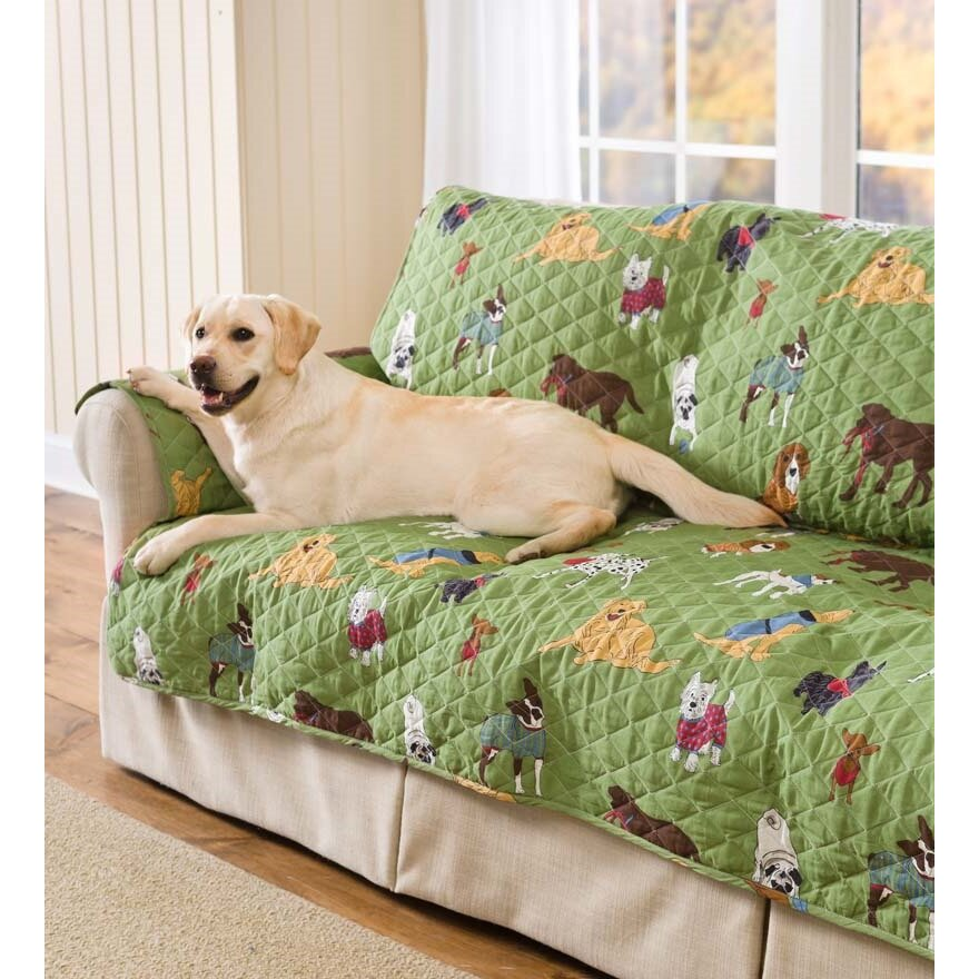 Plow And Hearth Furniture: Plow & Hearth Doggone Cotton Sofa Slipcover