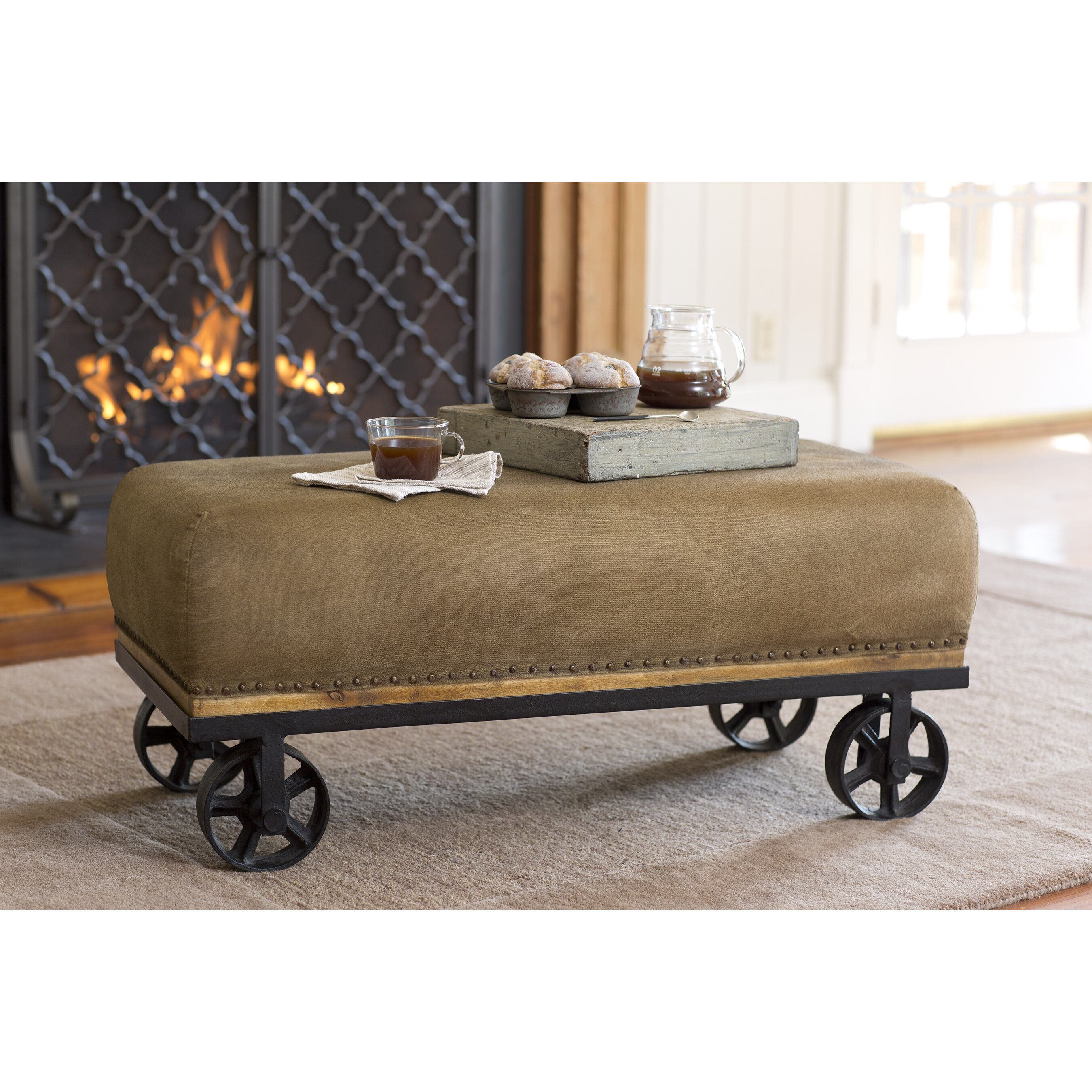 Hearth Bench: Plow & Hearth Upholstered Entryway Bench & Reviews