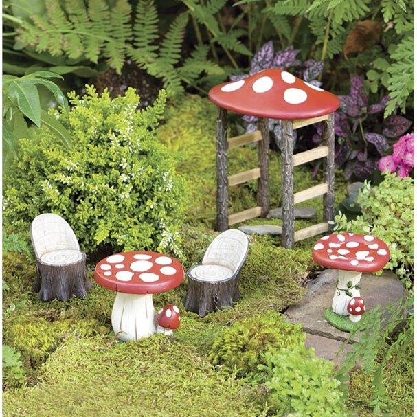 Plow And Hearth Furniture: Plow & Hearth Miniature Fairy Garden Mushroom Furniture