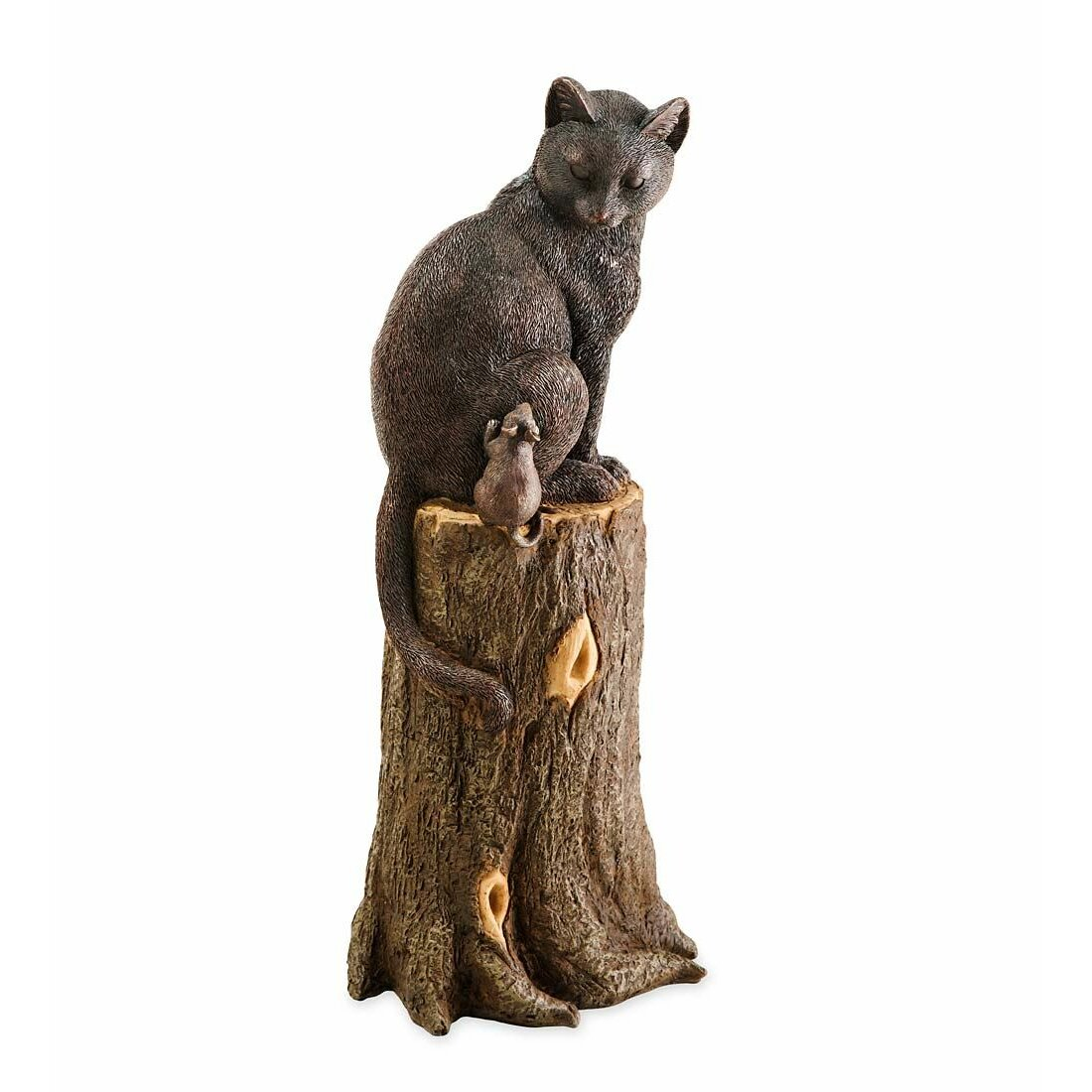 Plow Amp Hearth Cat And Mouse On Stump Statue Amp Reviews