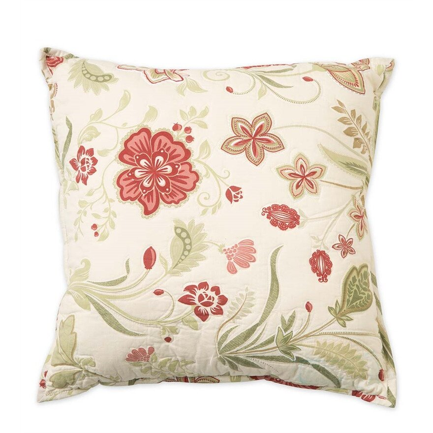 Jacobean Decorative Pillows : Plow & Hearth Jacobean Vine Cotton Throw Pillow Wayfair