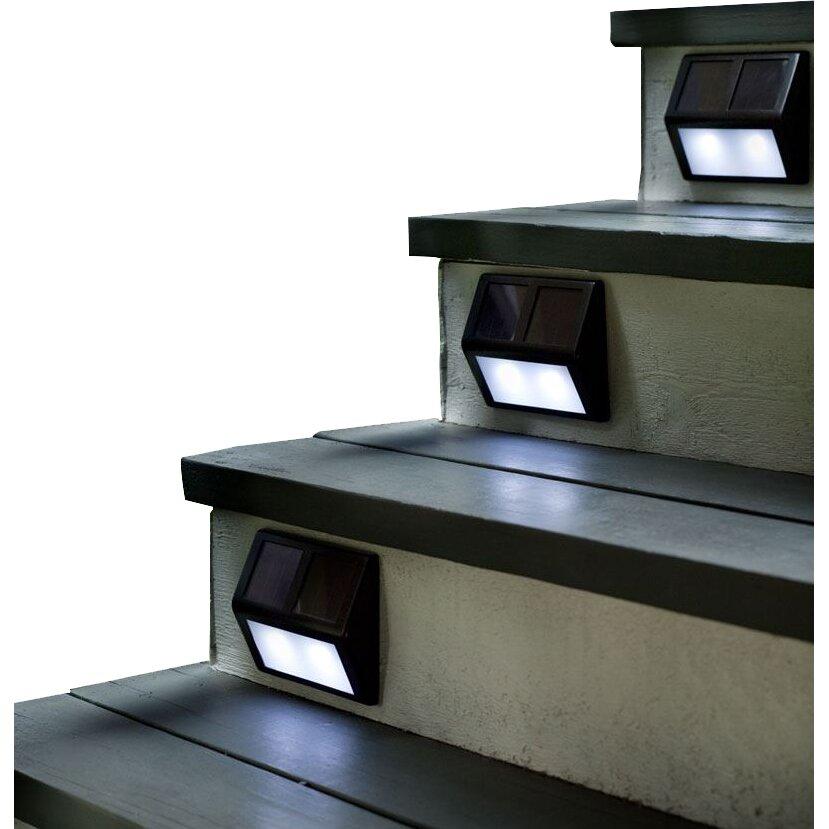 Plow amp hearth 4 light step light kit amp reviews wayfair