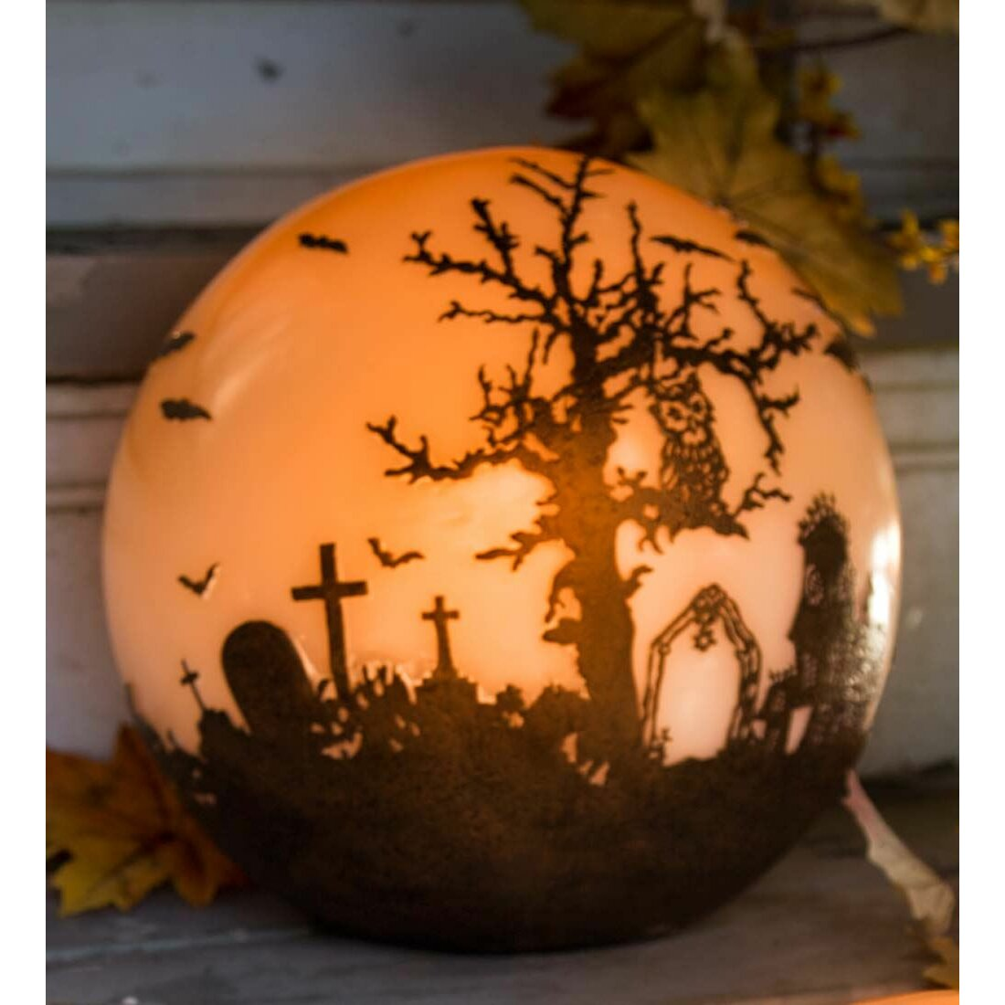 Plow Amp Hearth Halloween Glowing Luminary Globe Amp Reviews