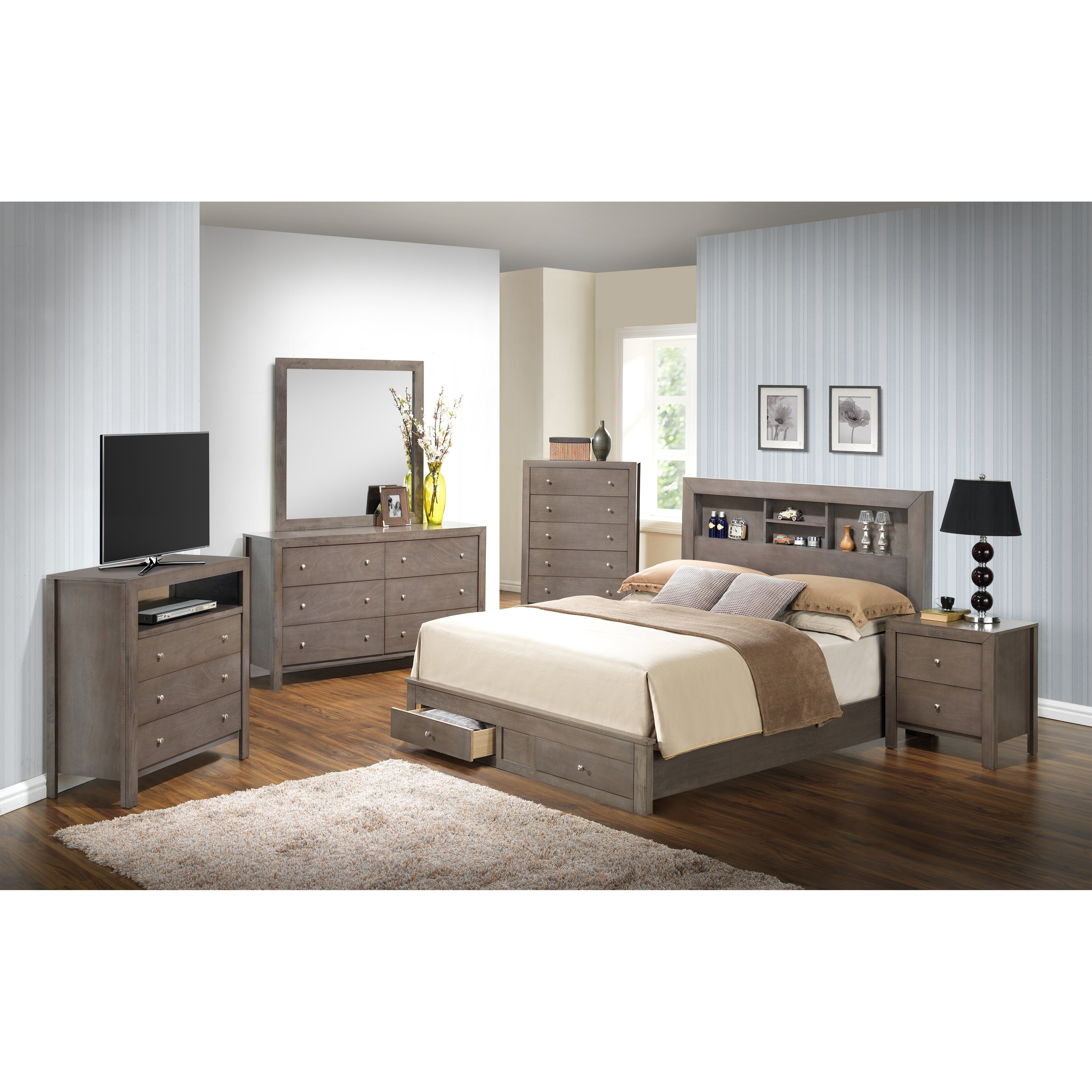 Glory Furniture Storage Panel Customizable Bedroom Set Reviews