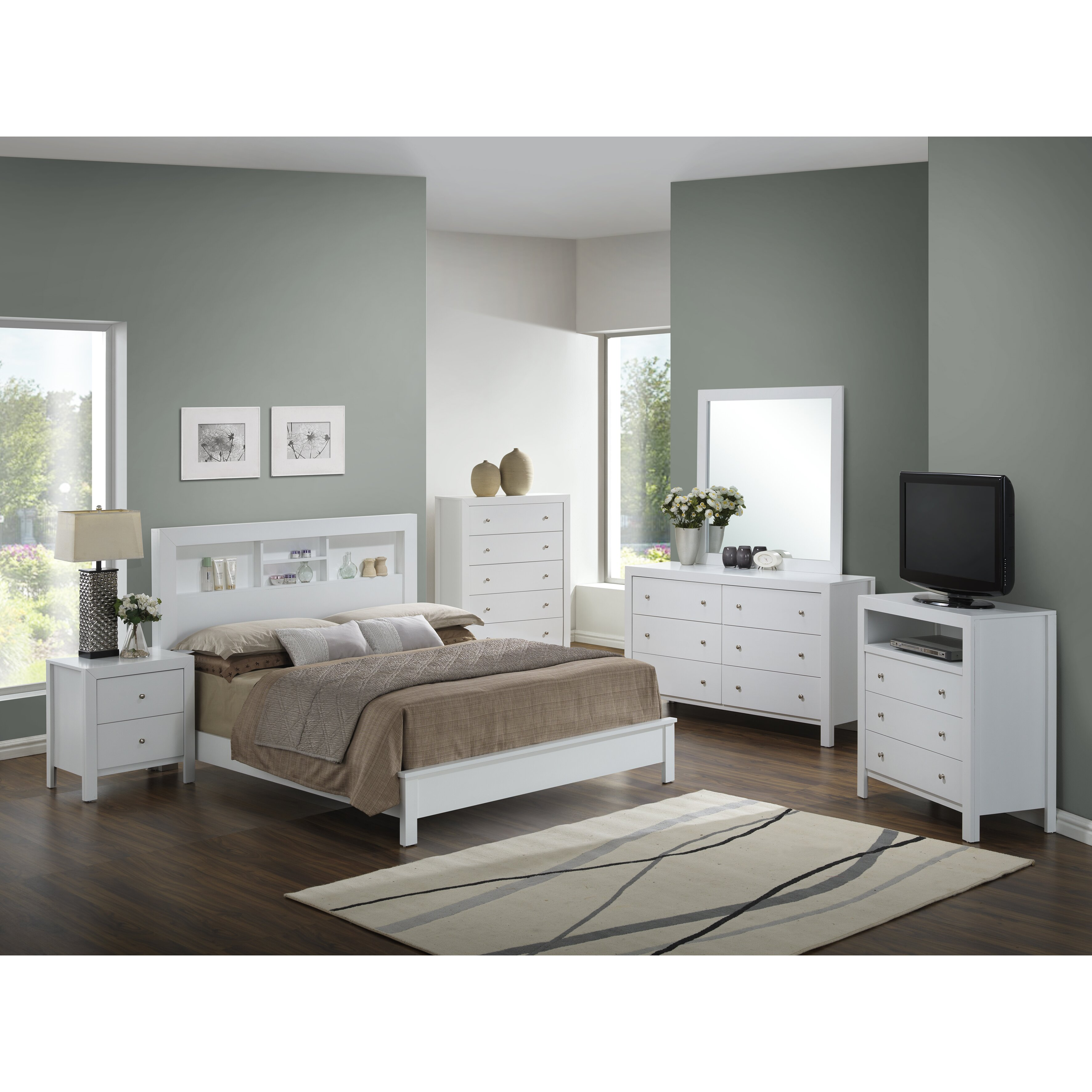 Glory Furniture Aries Panel Customizable Bedroom Set Reviews Wayfair
