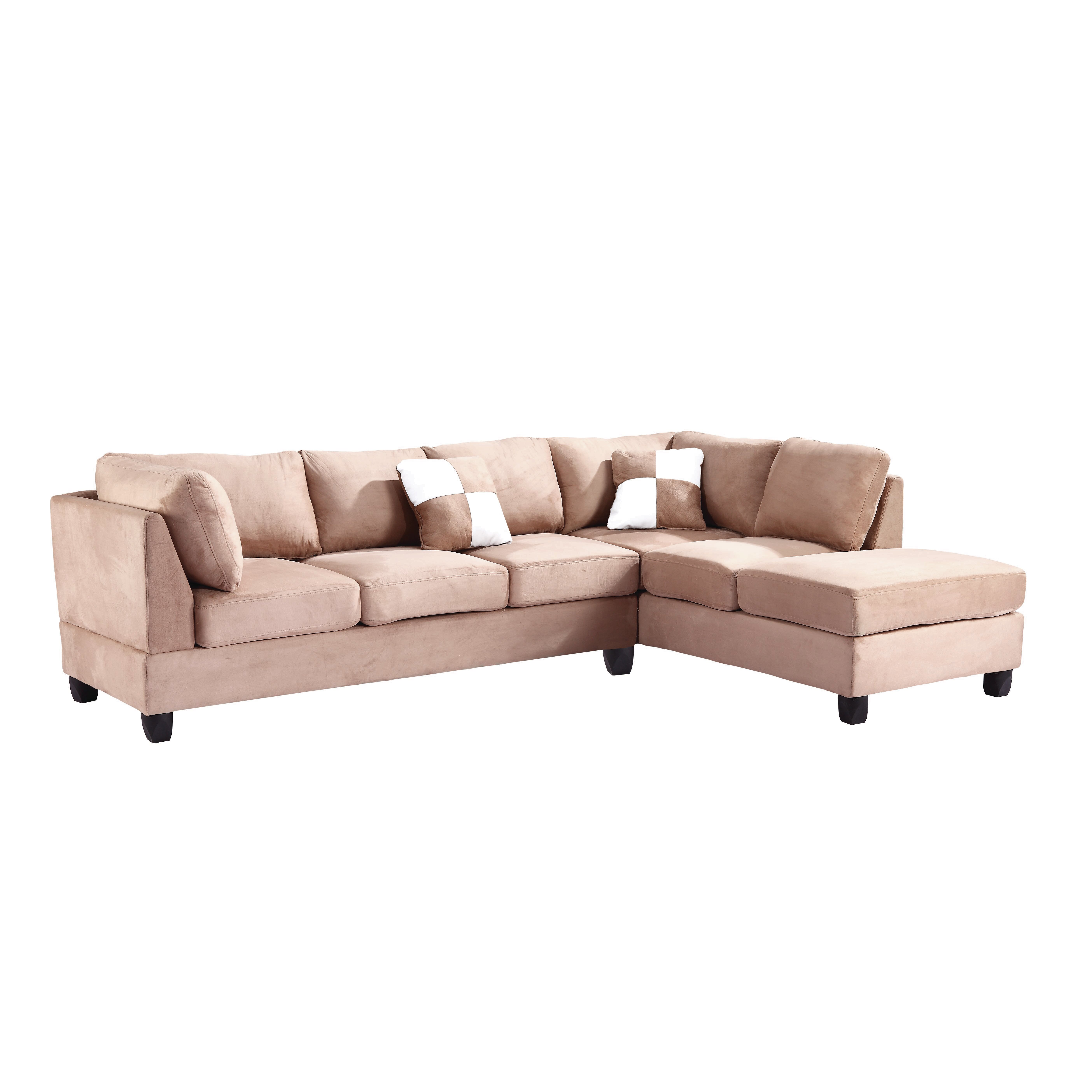Glory furniture athens reversible sectional reviews for Wayfair sectionals
