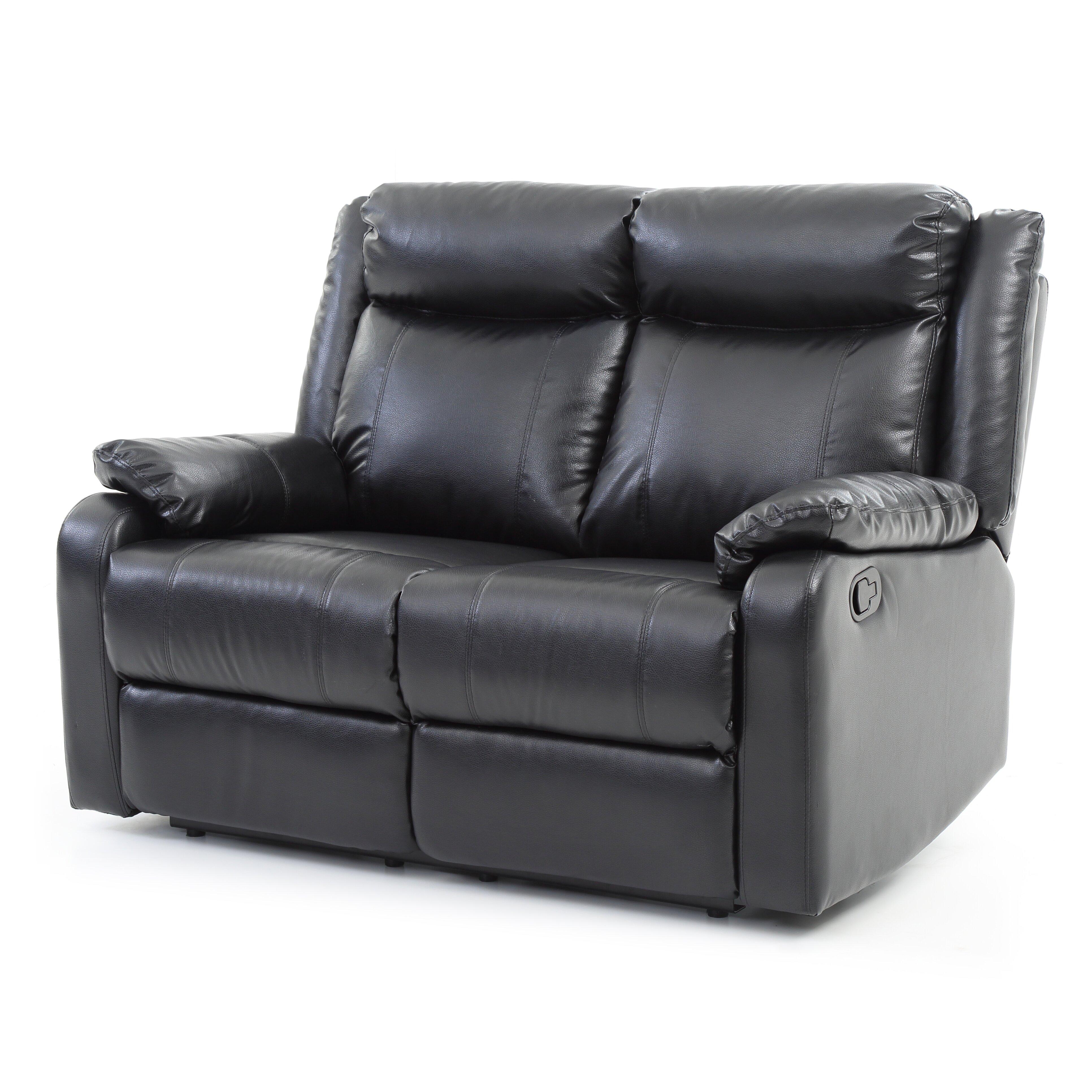 Glory Furniture Boston Double Reclining Leather Loveseat Wayfair
