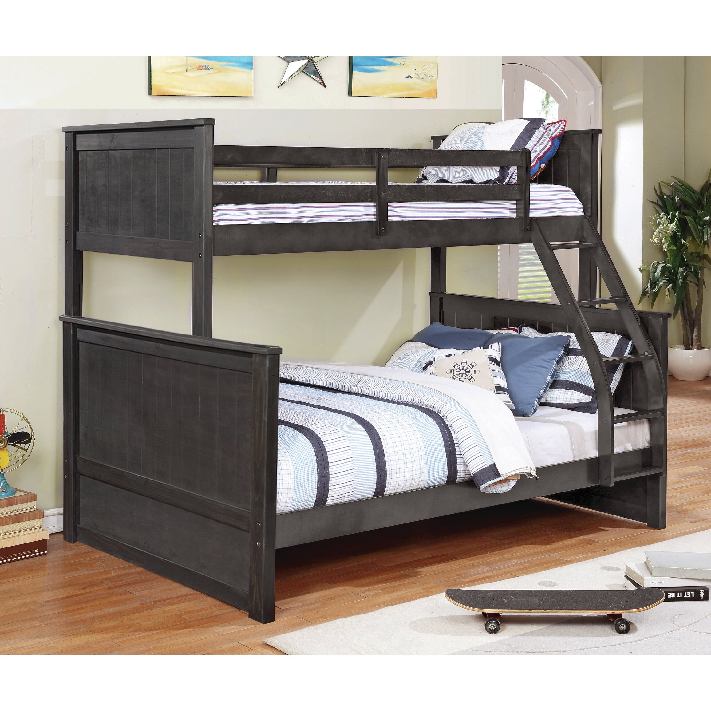 magnolia home hudson twin over full loft bunk bed reviews wayfair. Black Bedroom Furniture Sets. Home Design Ideas