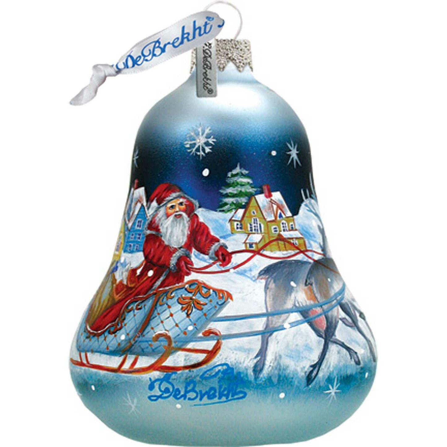 G debrekht santa sleigh bell ornament reviews wayfair