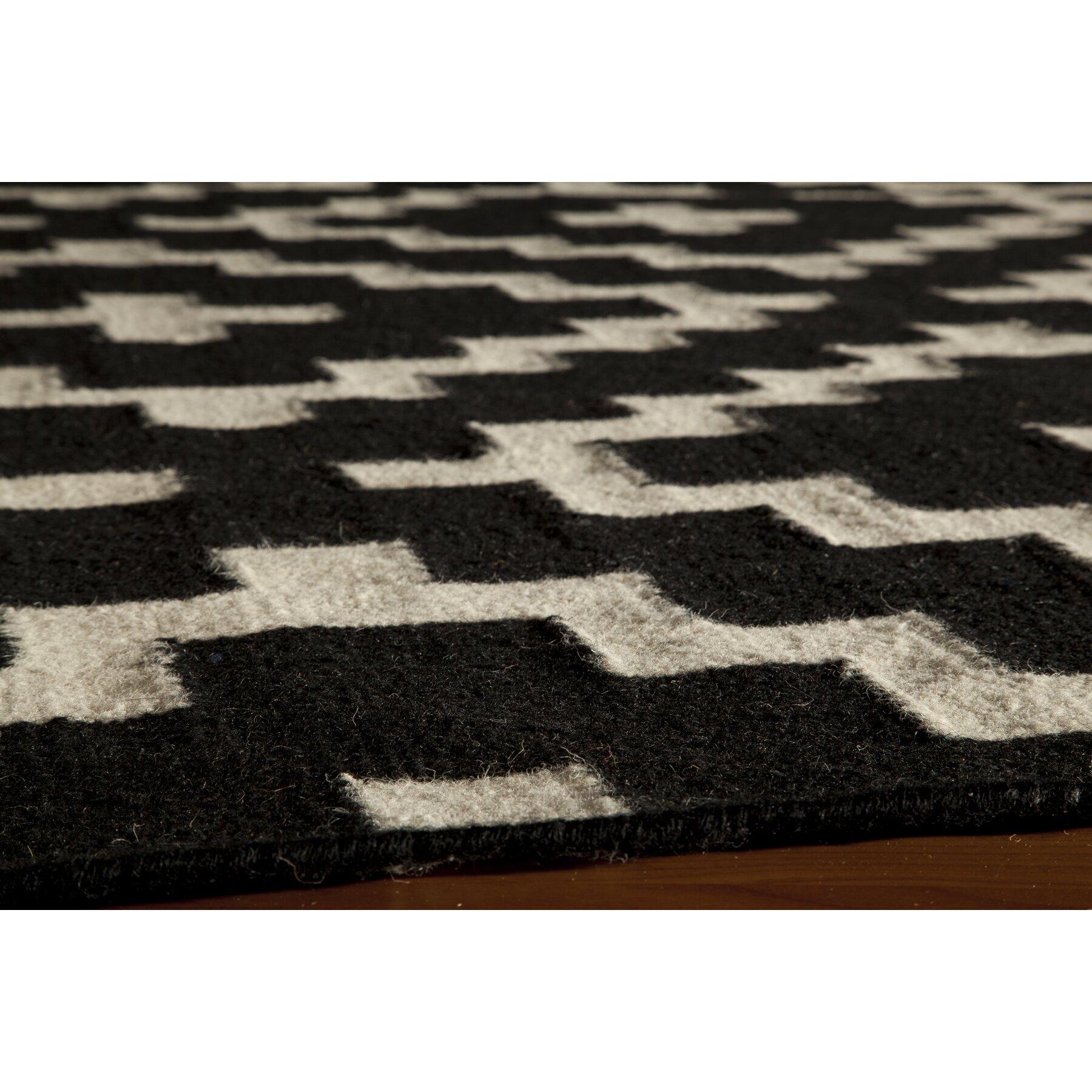 Momeni laguna black area rug reviews wayfair for Momeni rugs