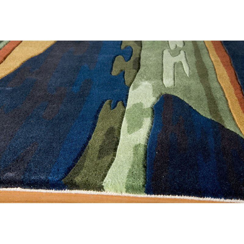 Momeni New Wave Navy Area Rug & Reviews