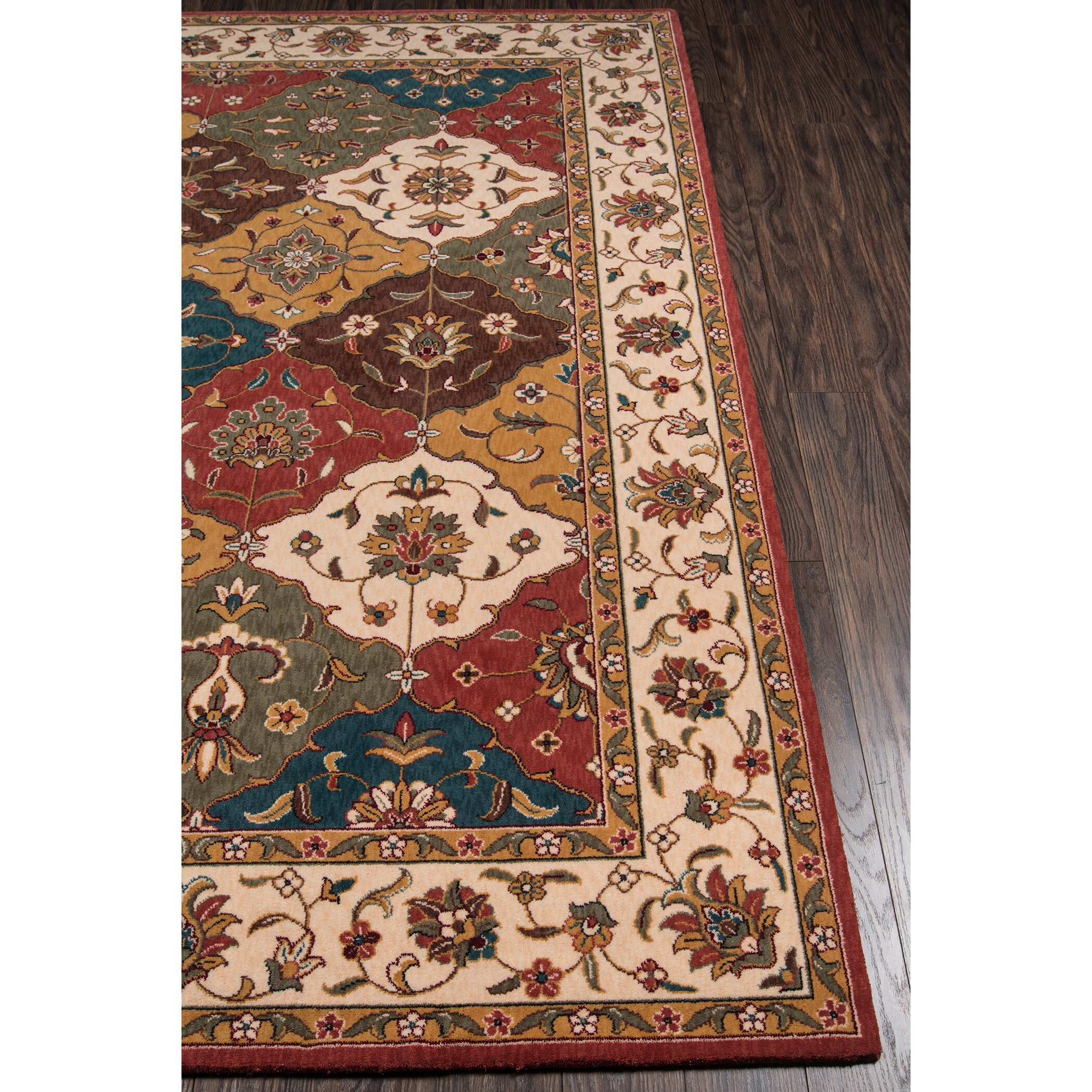 Momeni Persian Garden Red Orange Teal Area Rug Wayfair