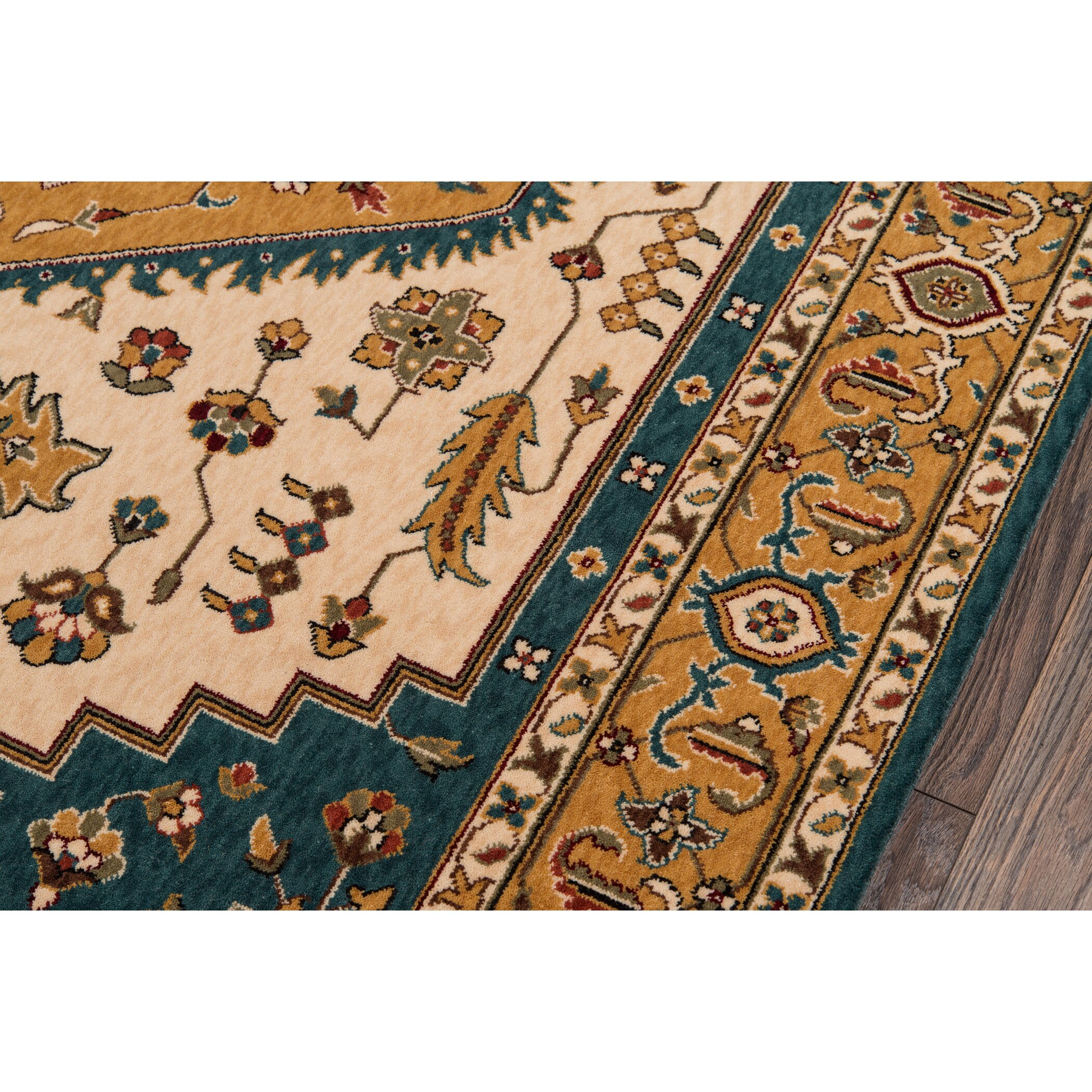 momeni persian garden blue orange area rug wayfair. Black Bedroom Furniture Sets. Home Design Ideas