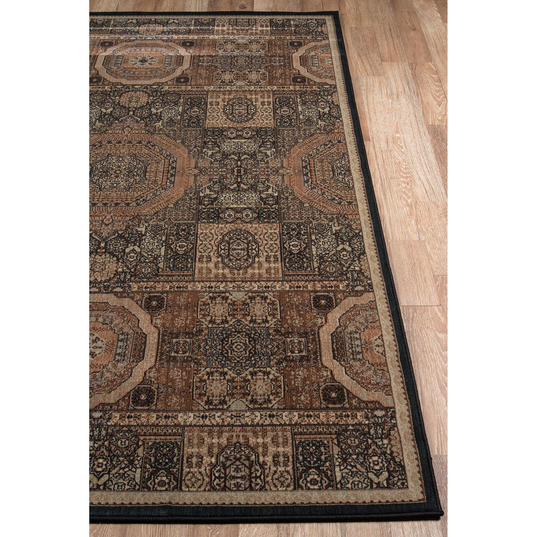 Momeni encore brown area rug wayfair for Momeni rugs