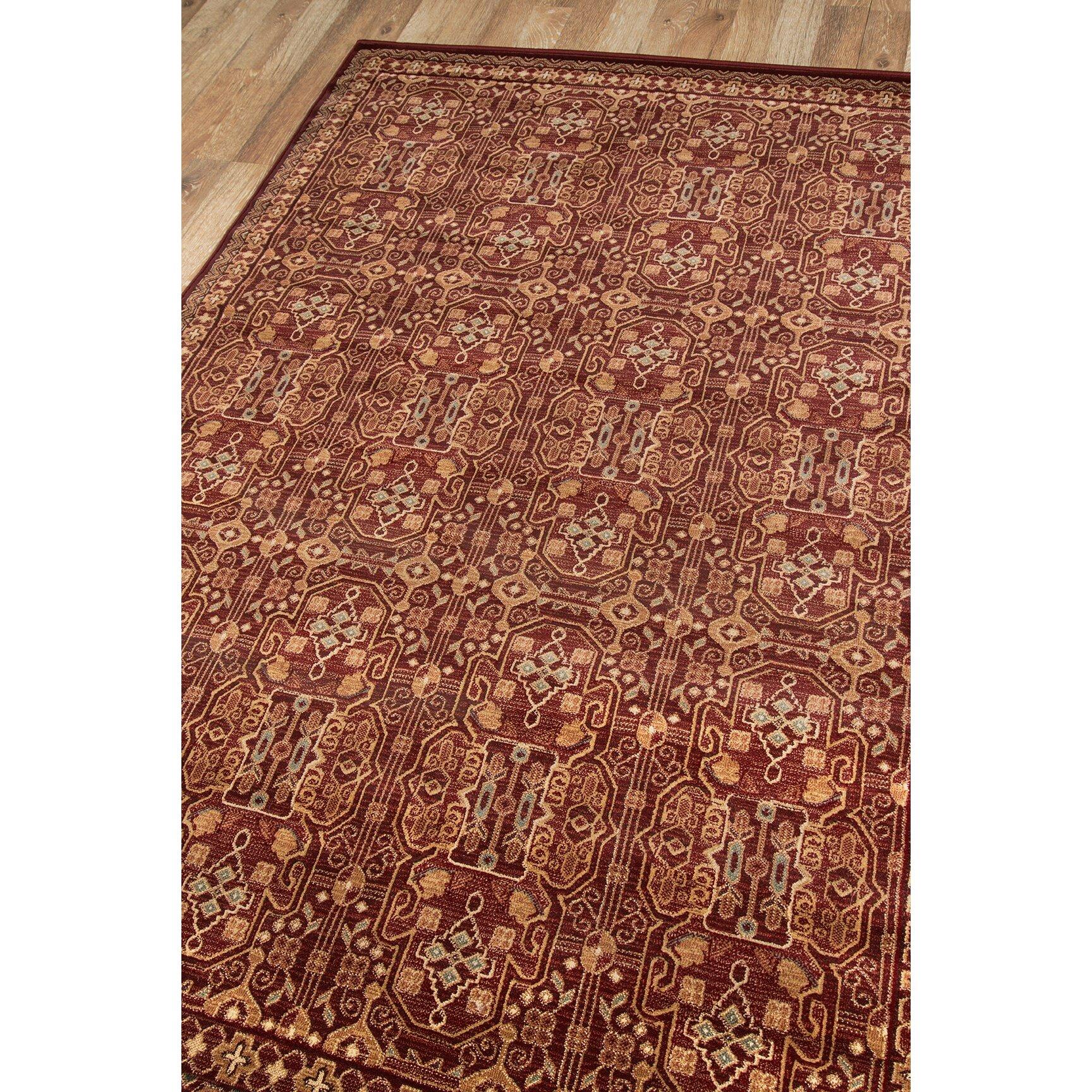 Momeni belmont red area rug reviews wayfair for Momeni rugs