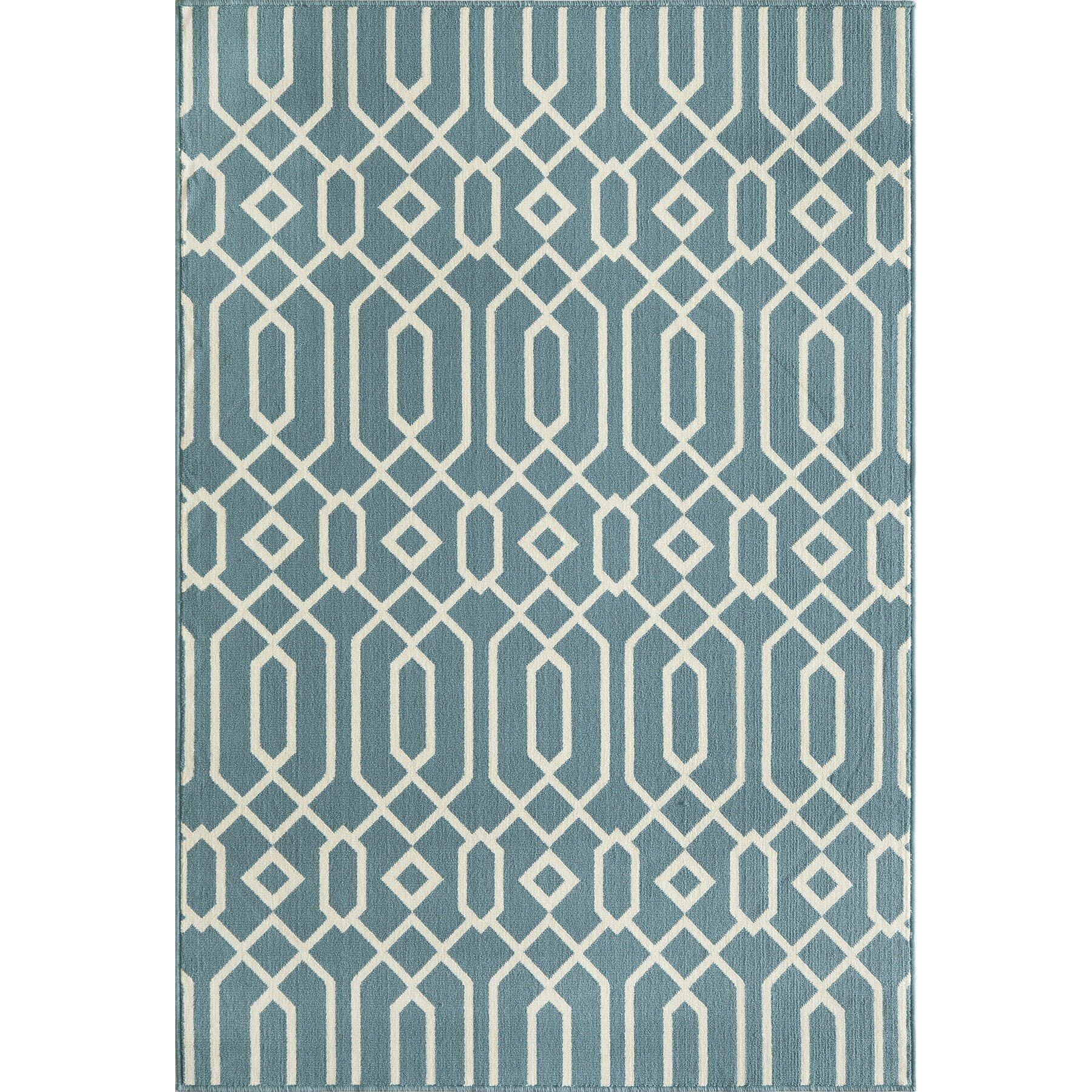 Momeni baja blue indoor outdoor area rug vi reviews for Blue indoor outdoor rug