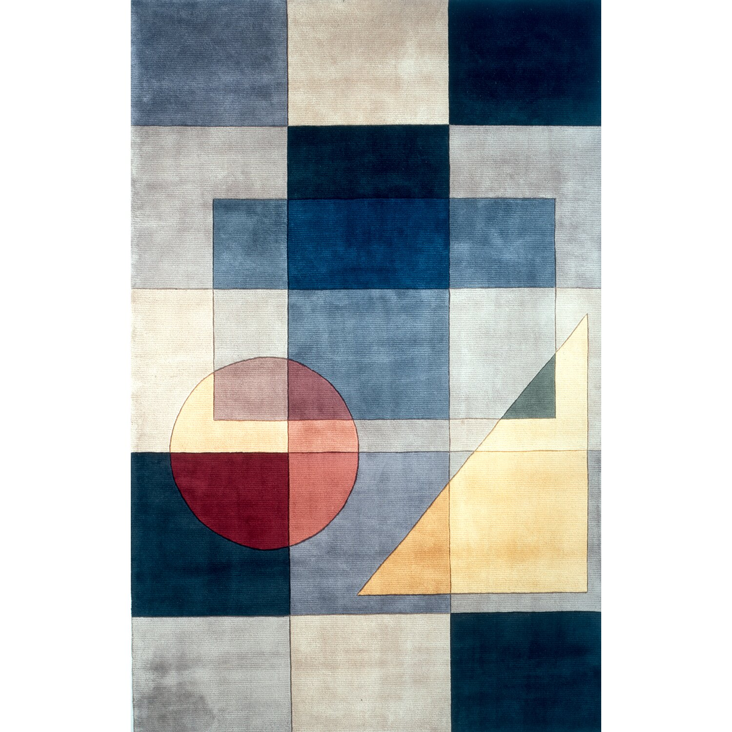Momeni New Wave IV Blue Area Rug & Reviews