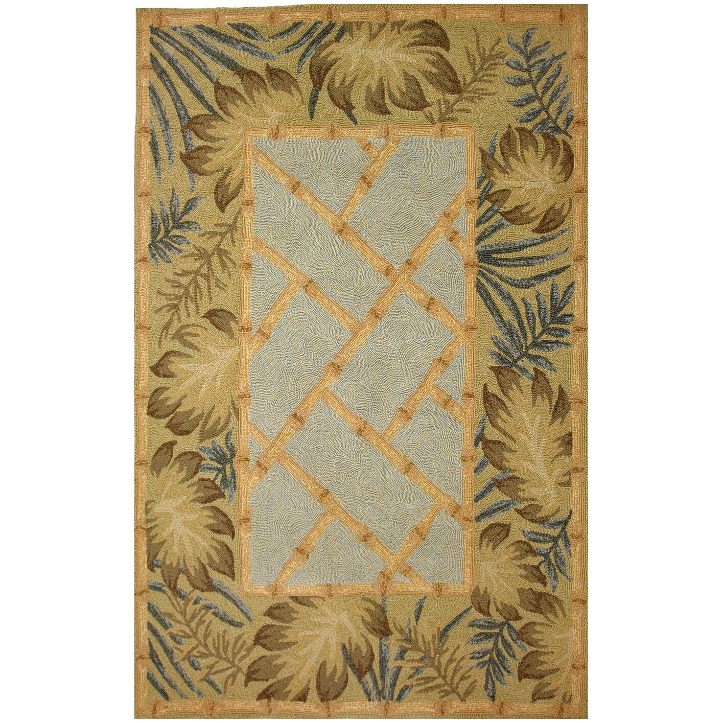 Bamboo Rug Runner: Homefires Tropical Palms And Bamboo Indoor/Outdoor Rug