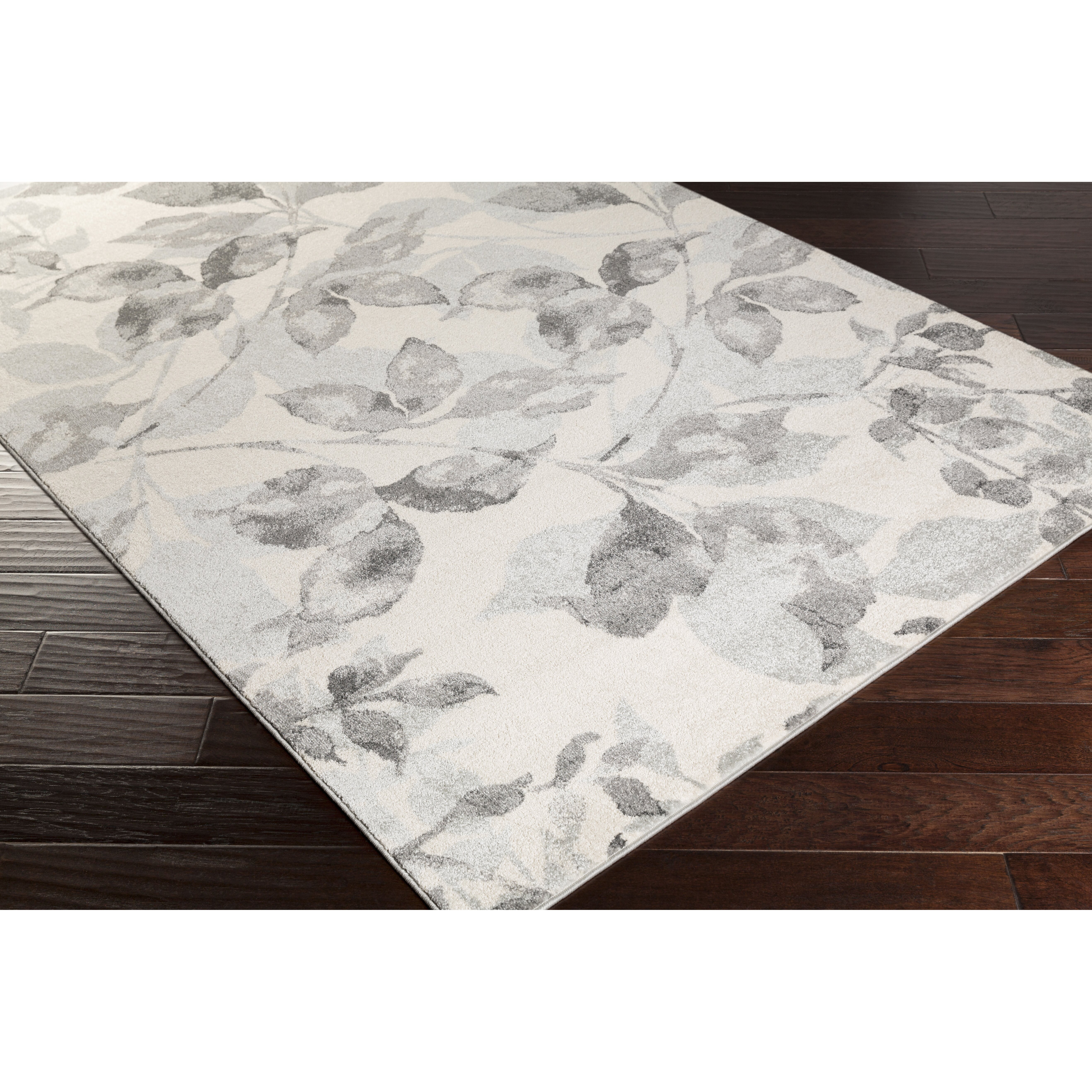 Surya Aberdine Charcoal Amp Light Gray Floral Area Rug
