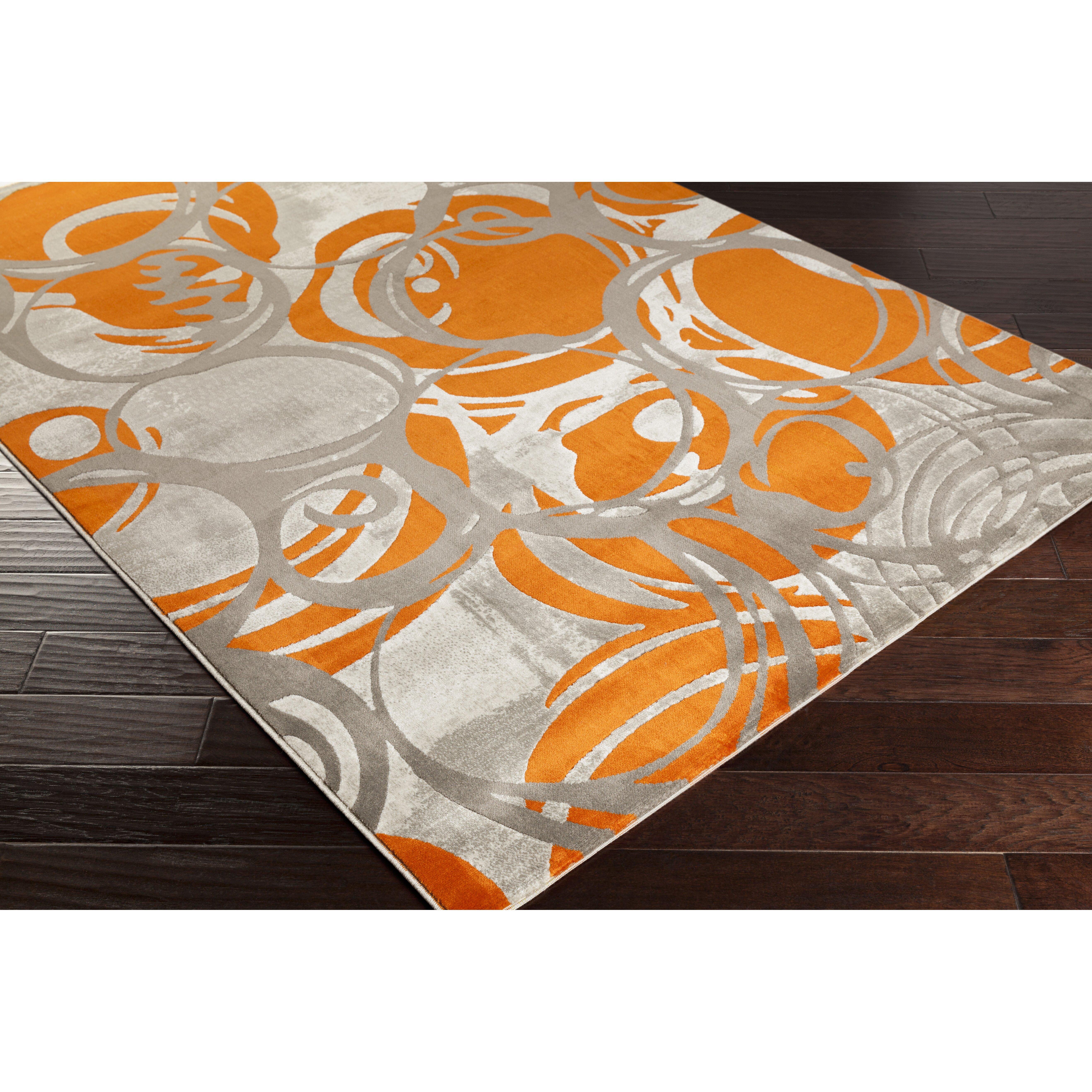 10 Square Rug Orange