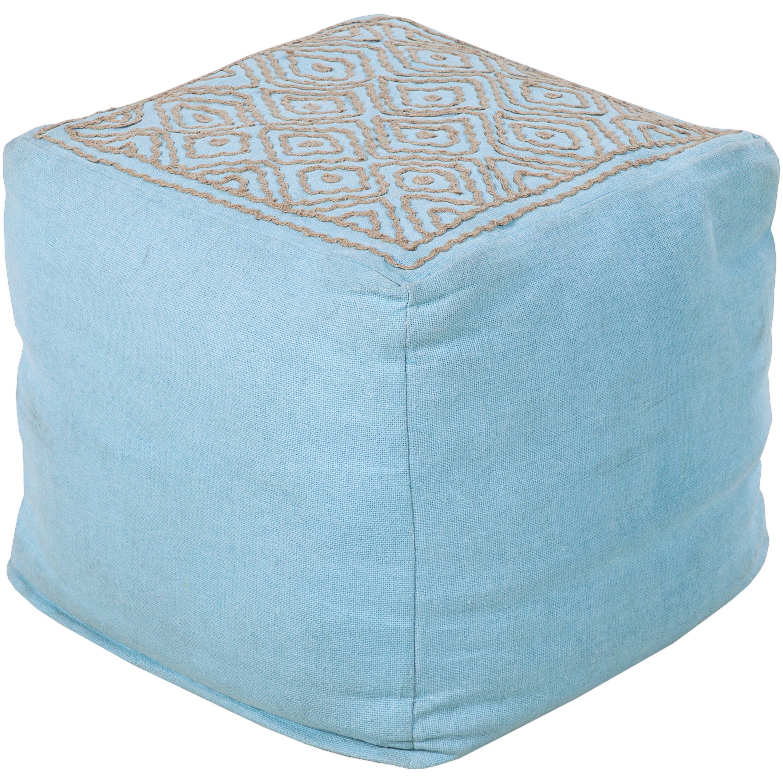 bungalow rose distinguished diamond pouf ottoman wayfair. Black Bedroom Furniture Sets. Home Design Ideas