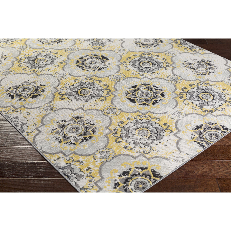 Lark Manor Clotilde Yellow Brown Area Rug & Reviews