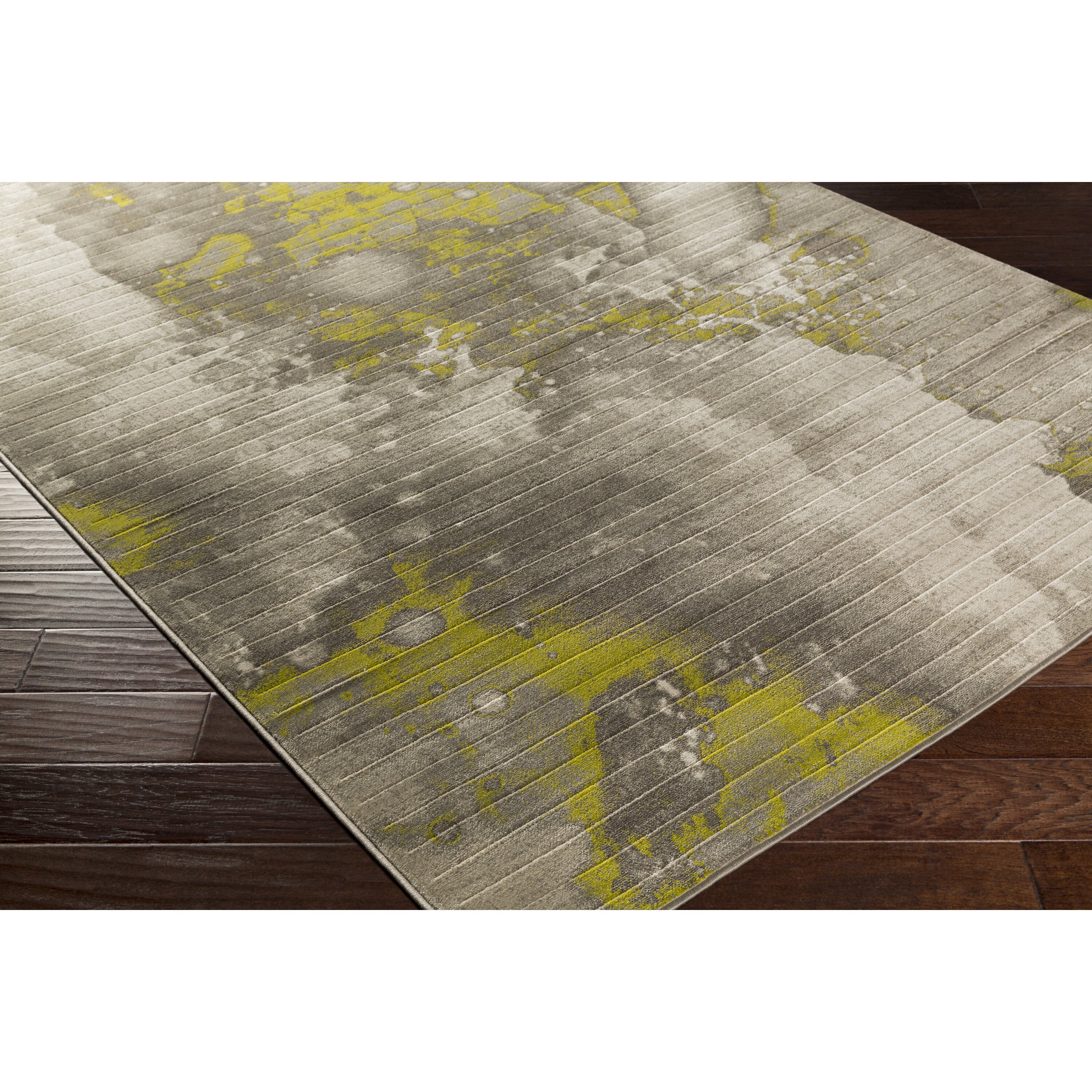 Lime Green Grey Area Rug: Trent Austin Design Chartwell Light Gray/Lime Area Rug